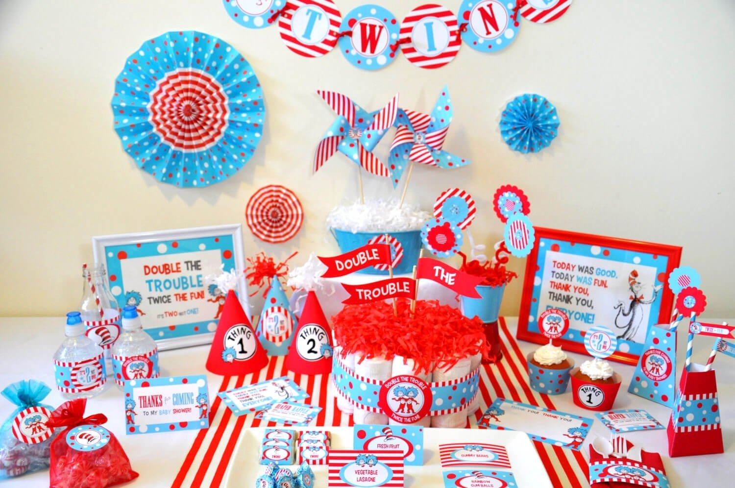baby shower themes twins • baby showers ideas