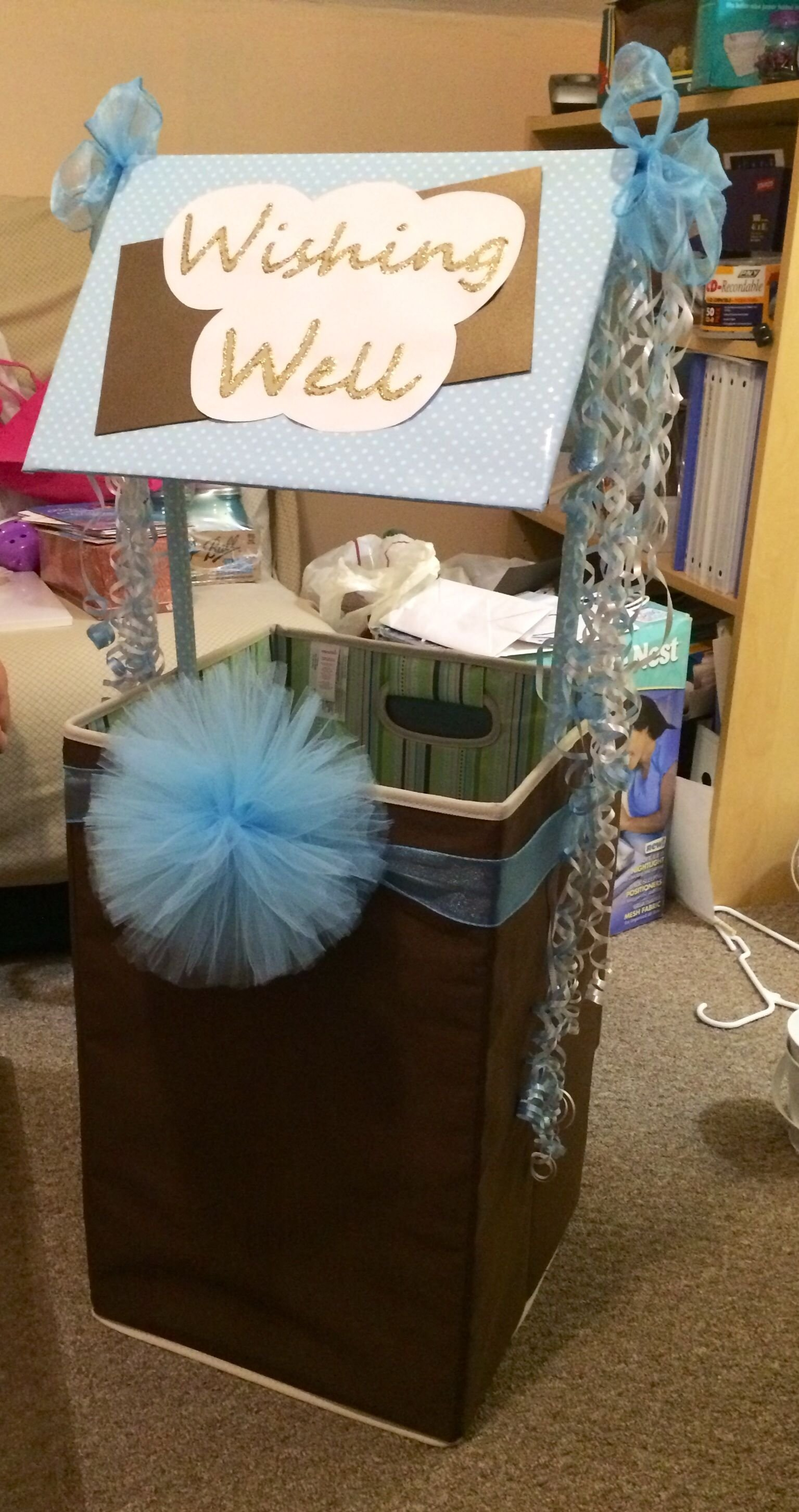 10 Fantastic Baby Shower Wishing Well Ideas baby shower wishing well made with hamper baby shower pinterest 2020