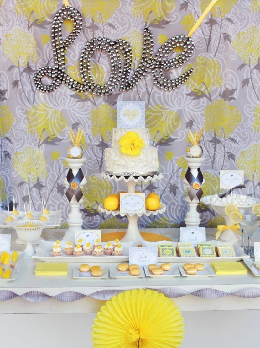 10 Trendy Yellow And Gray Baby Shower Ideas baby shower yellow and grey baby shower decorations bathroom 2020