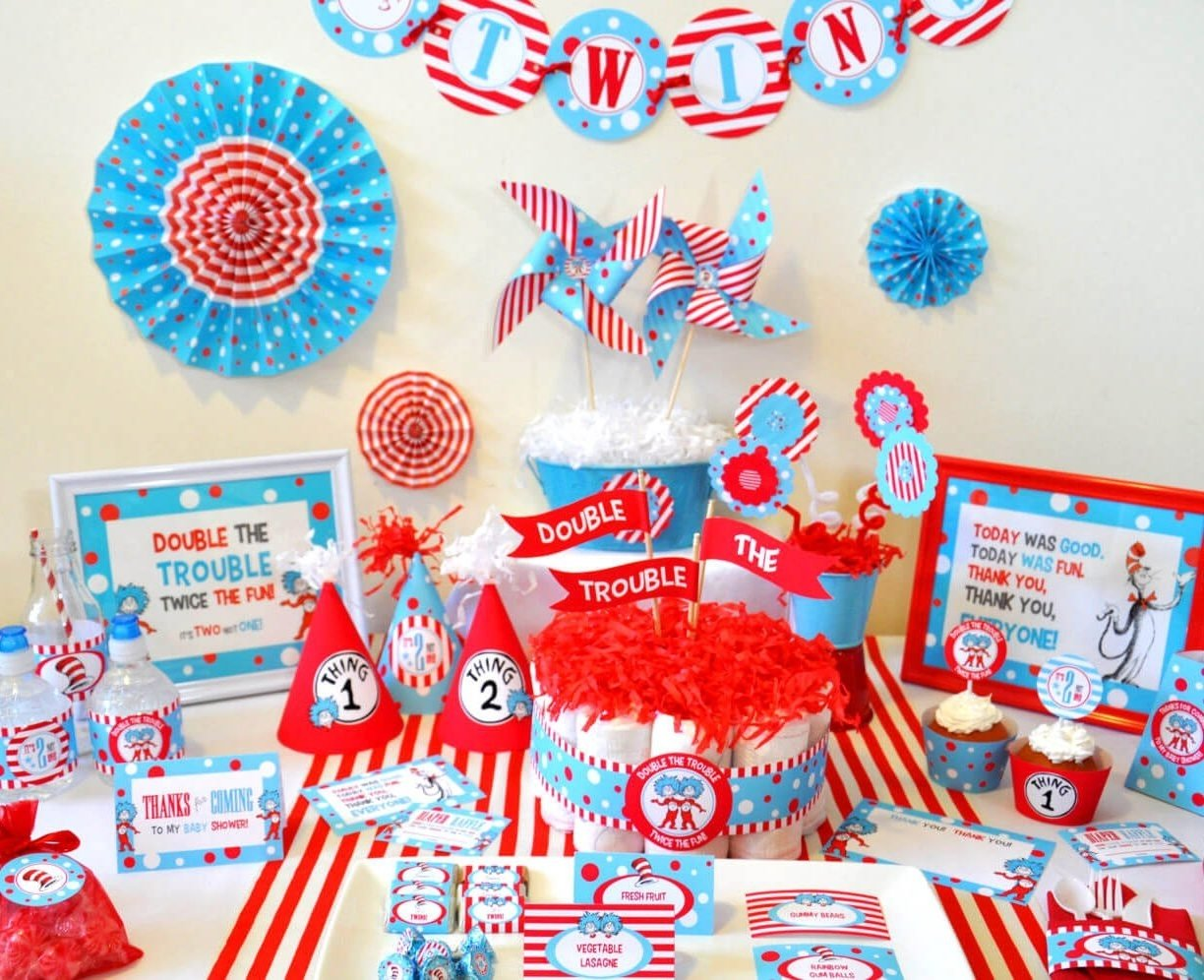 babyower decoration ideas for twins theme boy and girl pinterest