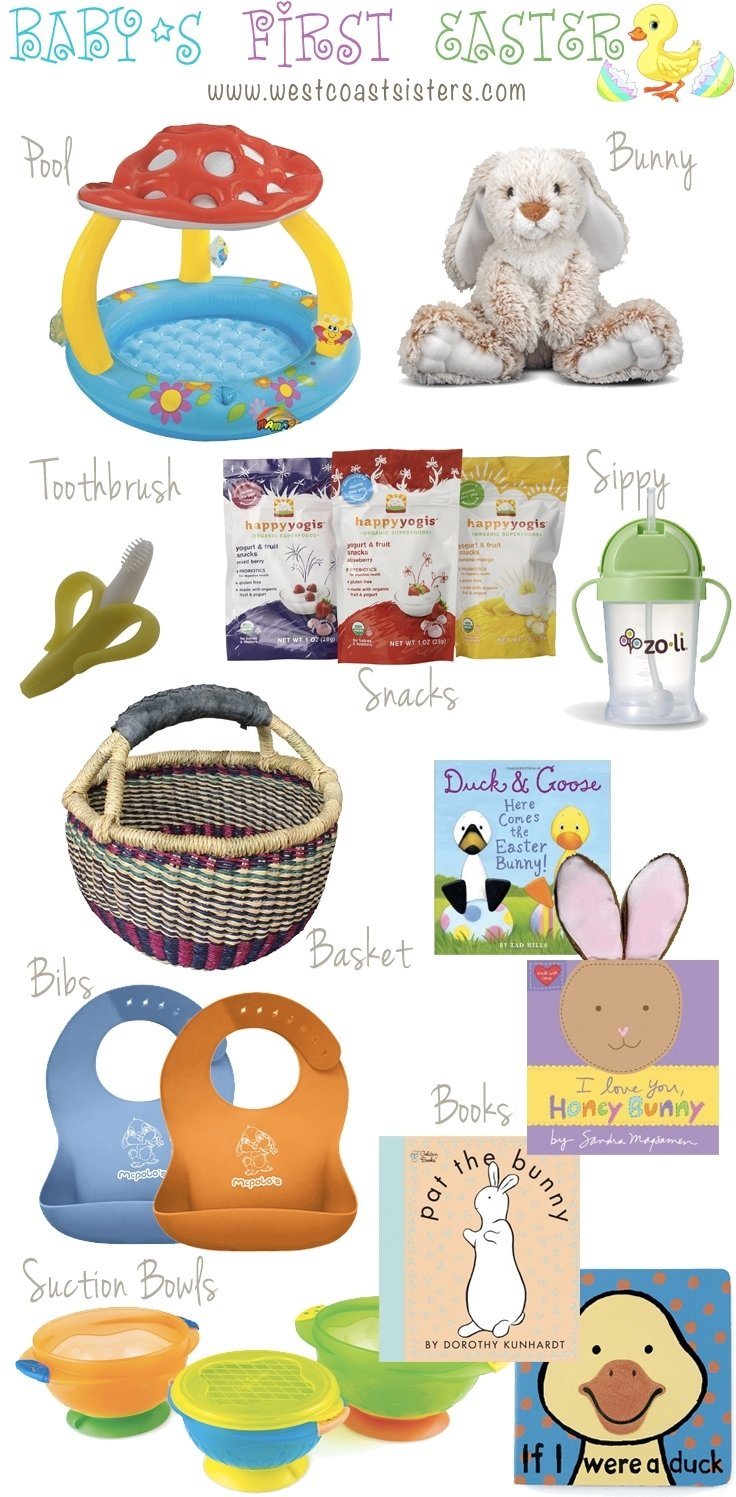 10 Stylish Baby First Easter Basket Ideas babys first easter basket ideas west coast sisters