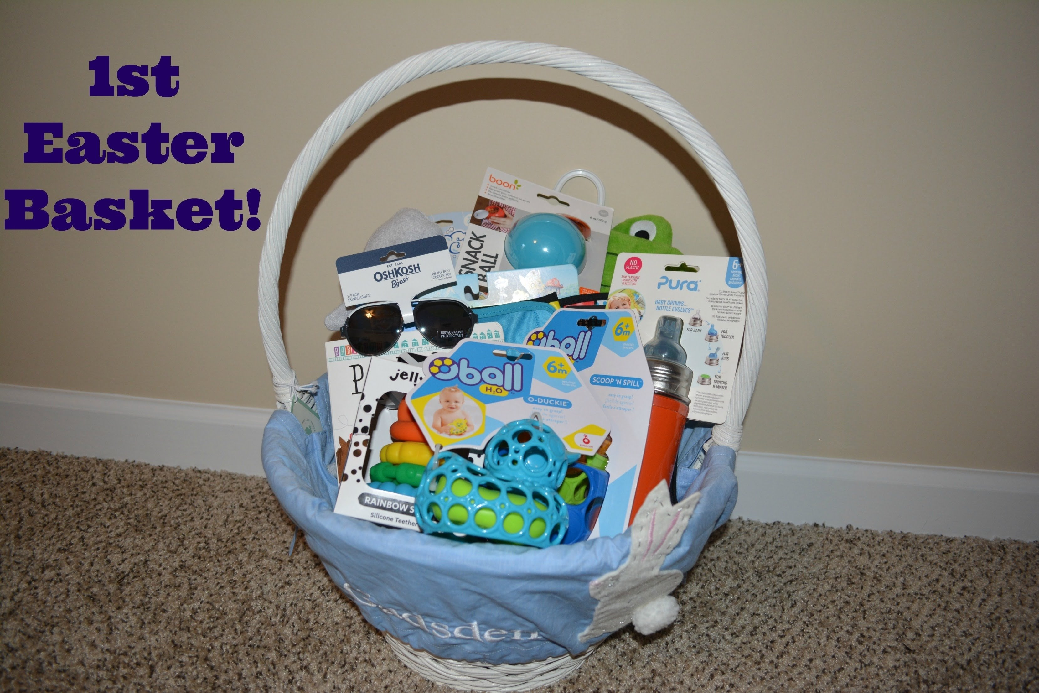 10 Cute Easter Basket Ideas For Infants babys first easter basket ideas youtube 2021