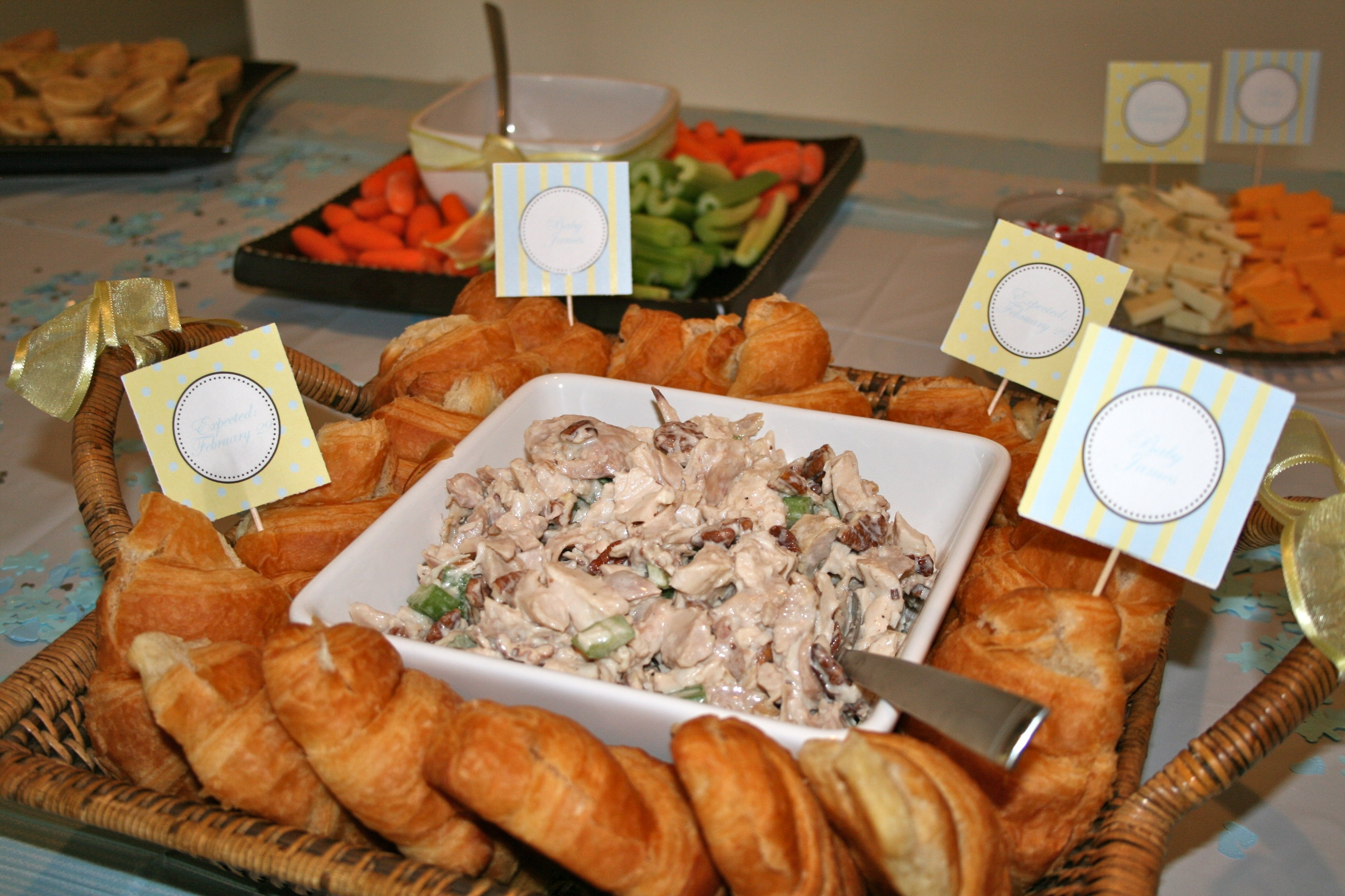10 Stylish Food Ideas For A Baby Shower babyshowermenuspring 2200x800 baby shower brunch food ideas lunch 2020