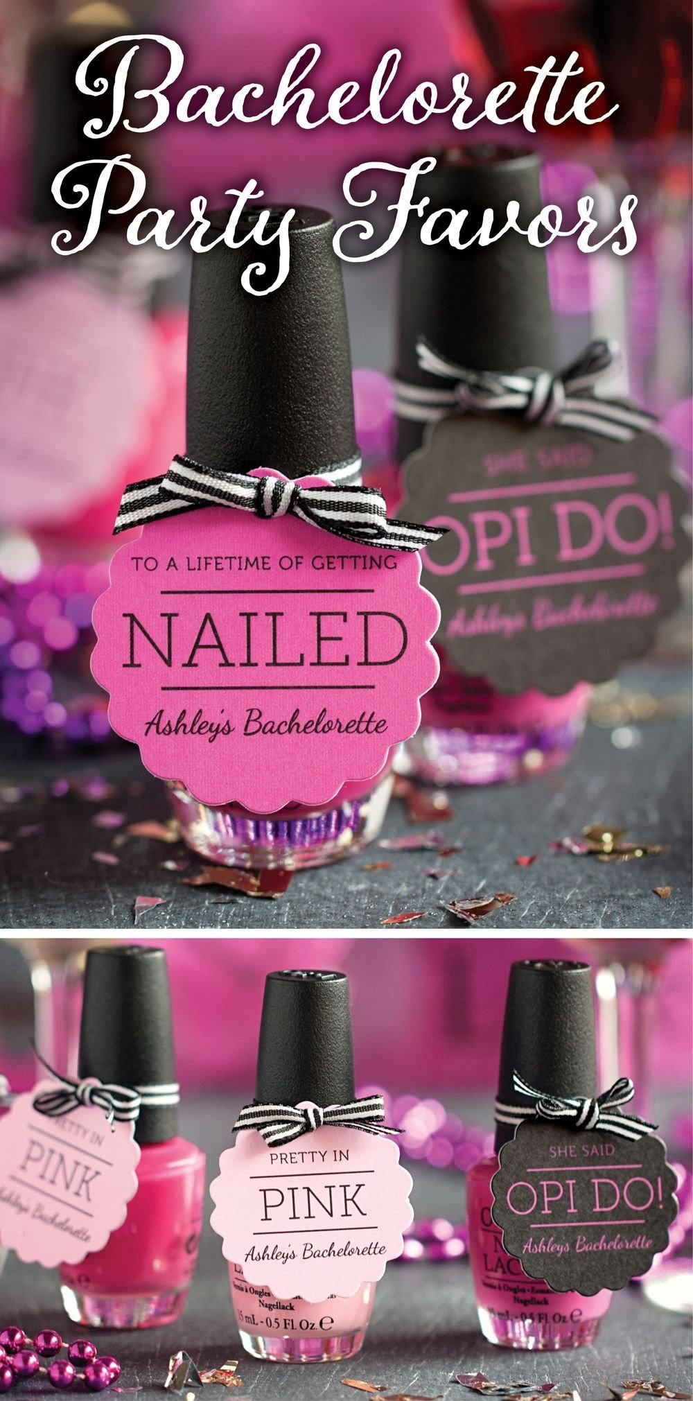10 Fantastic Fun Ideas For Bachelorette Party bachelorette party favor ideas opi nails bachelorette parties and opi 1