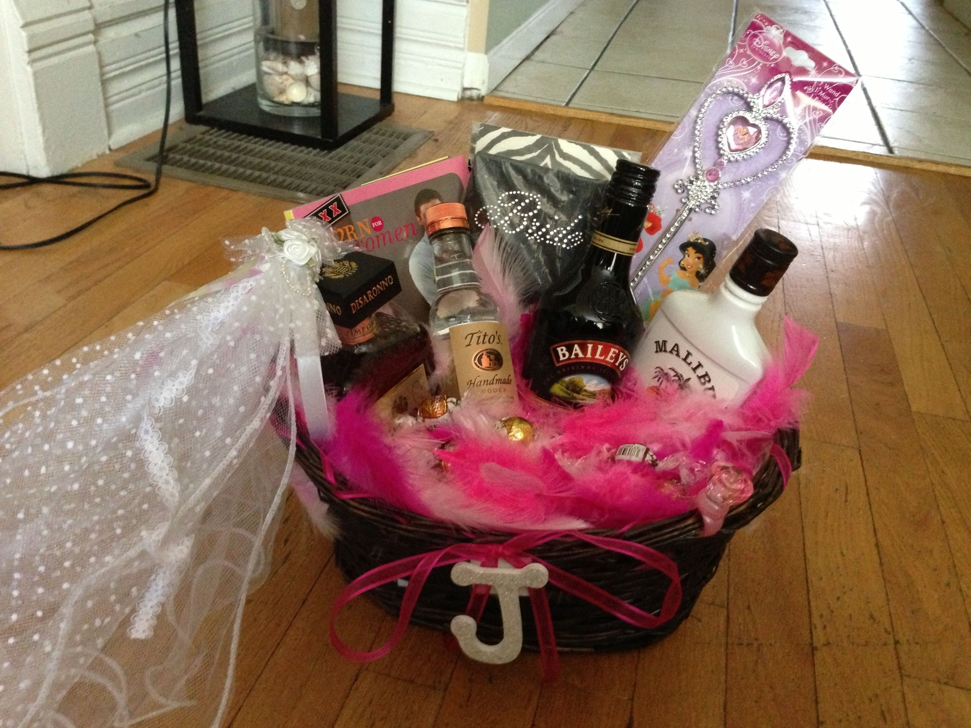 bachelorette party gift basket | love never fails | pinterest