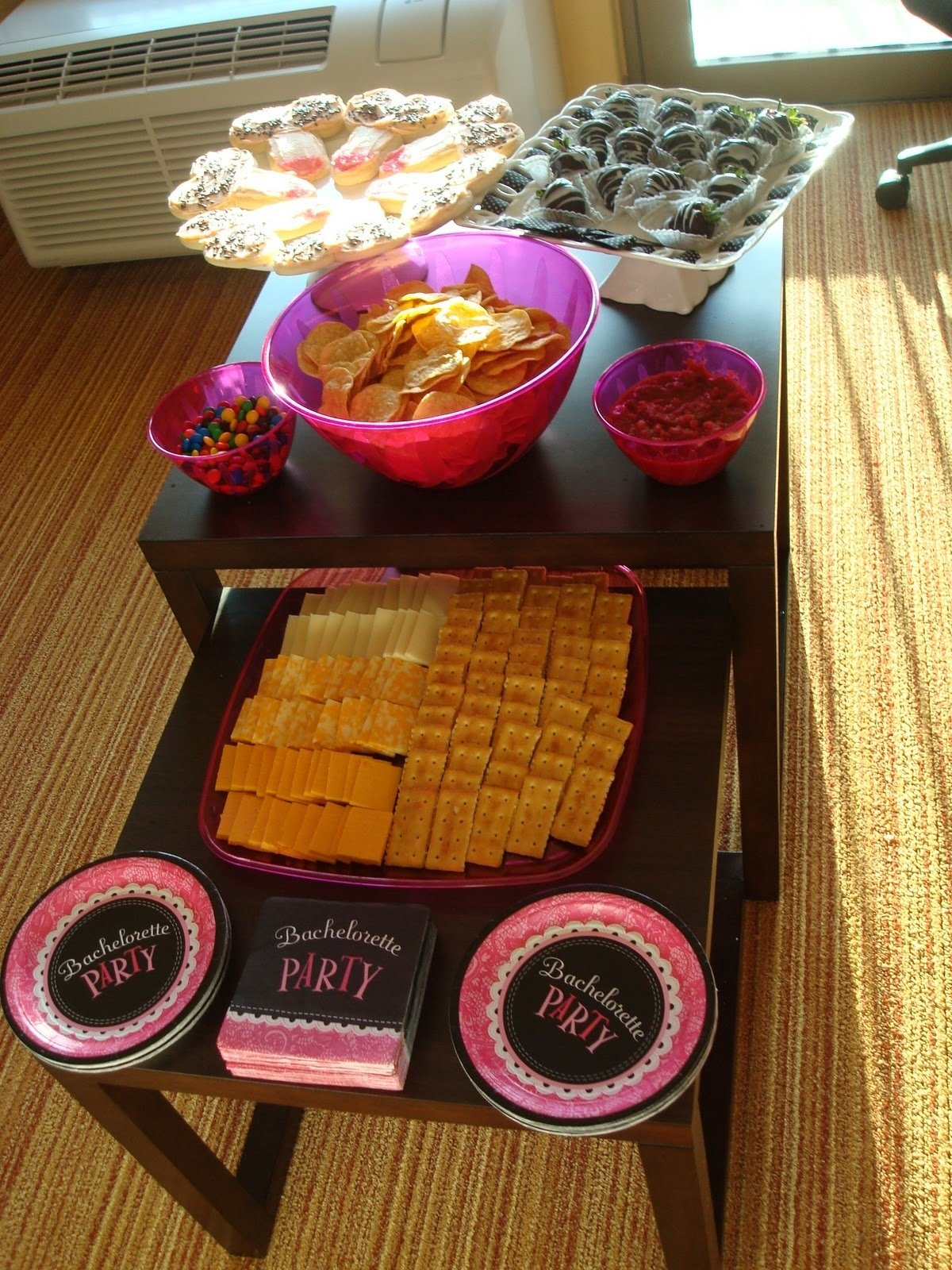 10 Gorgeous Low Key Bachelorette Party Ideas bachelorette party weekend hot pink black and silver 2021