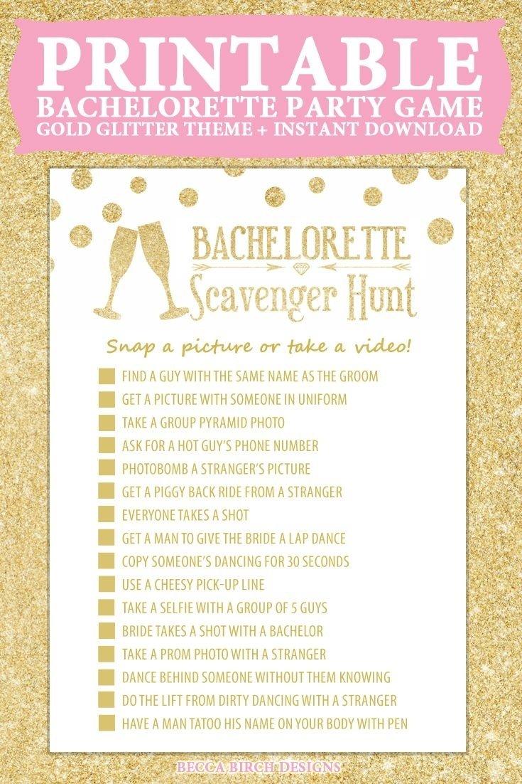 10 Best Fun Clean Bachelorette Party Ideas bachelorette scavenger hunt nashlorette hen night hen do game 2 2020