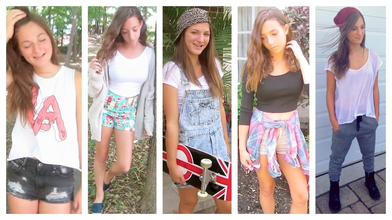 back to school: 5 outfit ideas for teens! - youtube