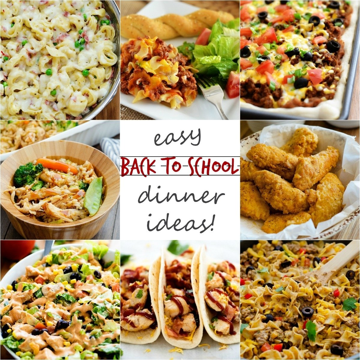 back-to-school dinner ideas! - life in the lofthouse