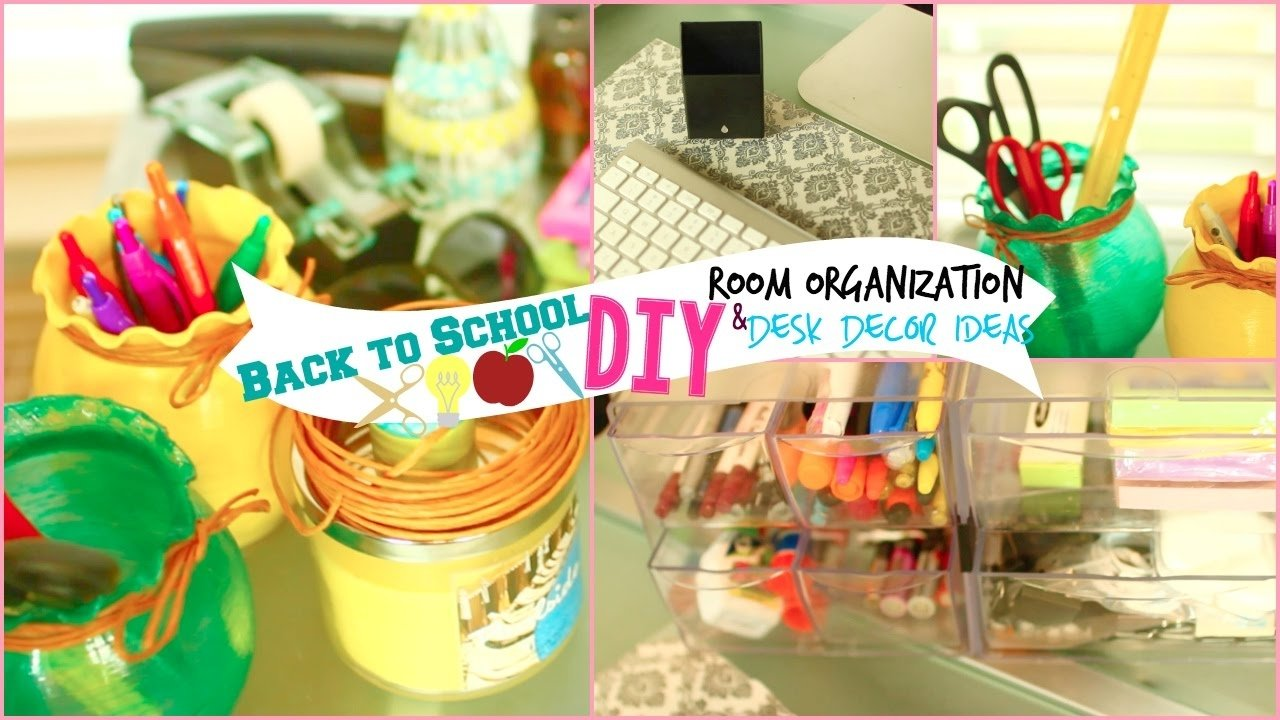 10 Beautiful Back To School Decoration Ideas back to school diy room organization desk decor ideas youtube 2021