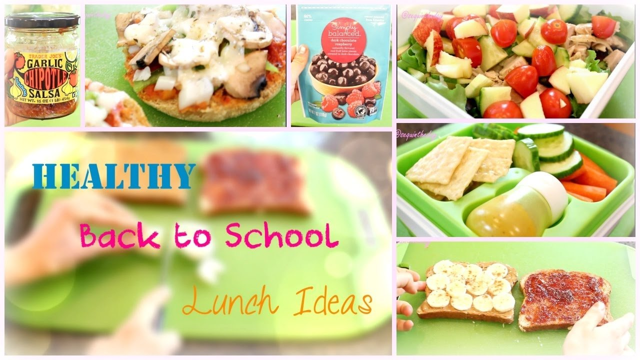 10 Lovable Good Lunch Ideas For School back to school healthy lunch ideas youtube 1 2020