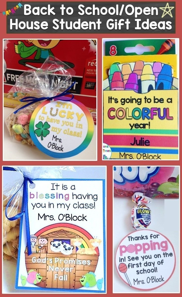 10 Fantastic Open House Ideas For Preschool back to school open house meet the teacher student gift tags