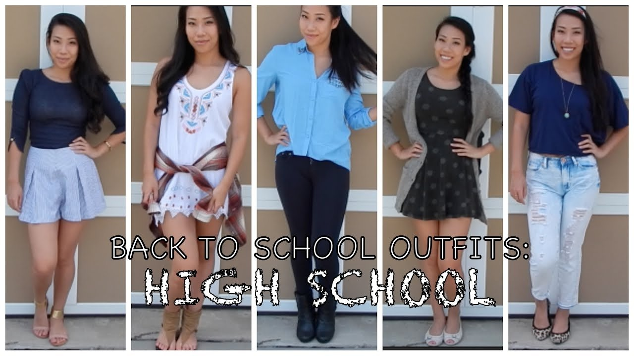 back to school outfit ideas: high school ♡ - youtube