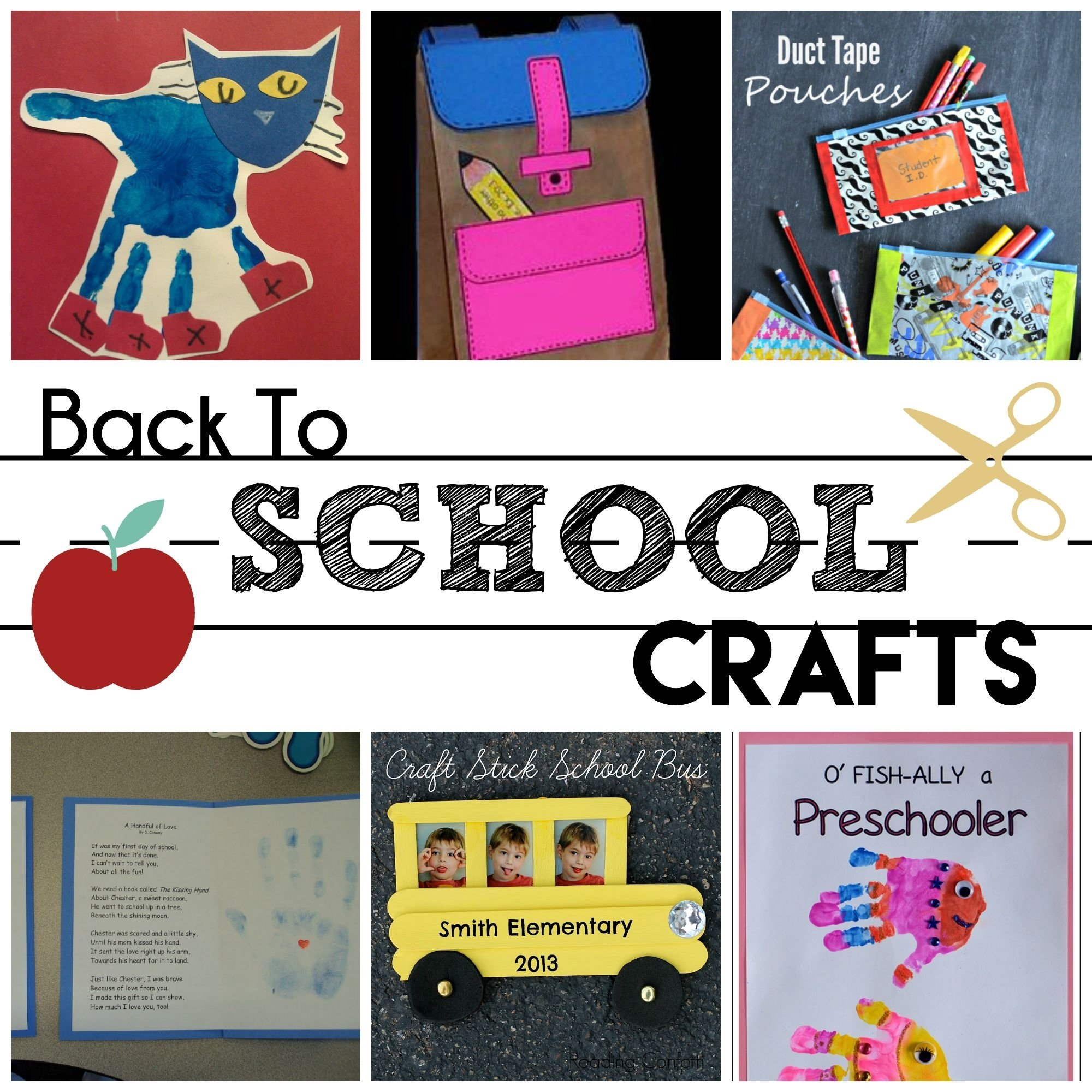 back to school preschool crafts - moms without answers