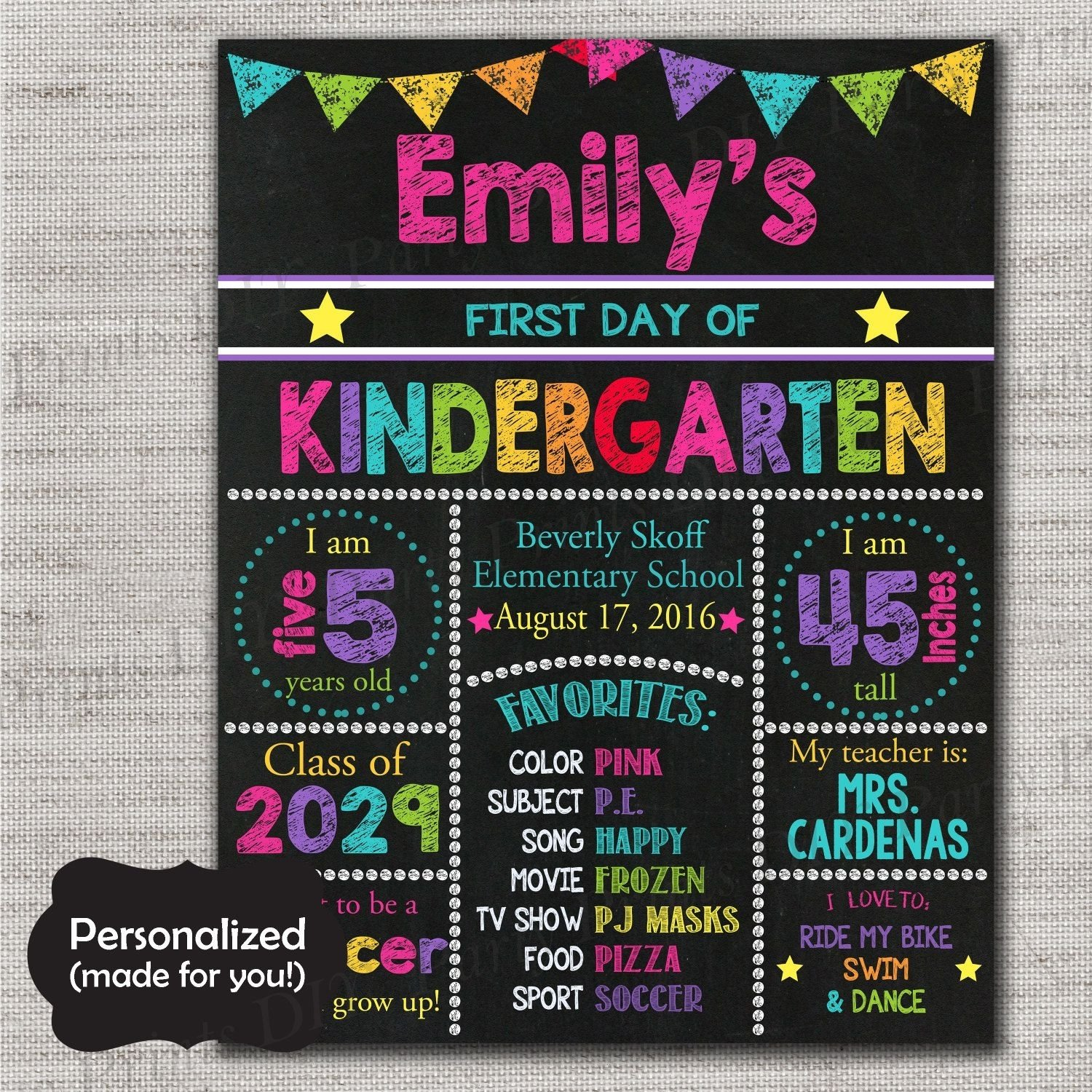 10 Nice 1St Day Of School Ideas back to school signfirst day of school chalkboard printable sign 2020