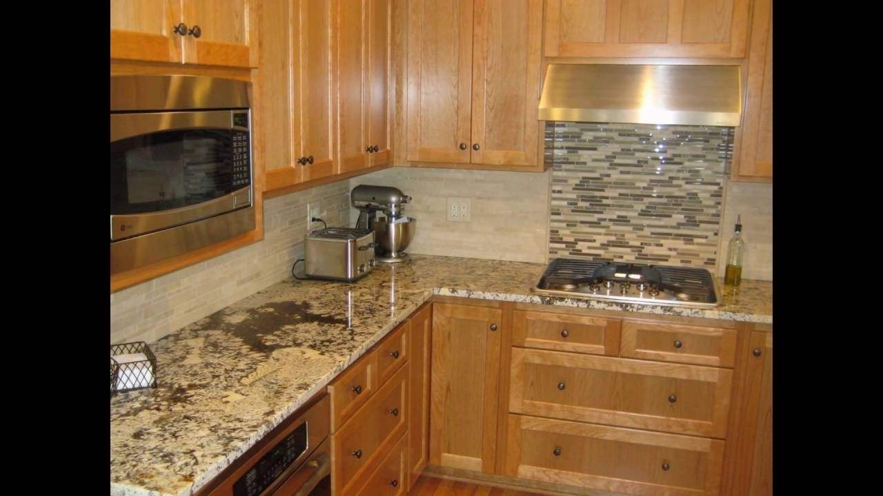 backsplash ideas for black granite countertops - youtube
