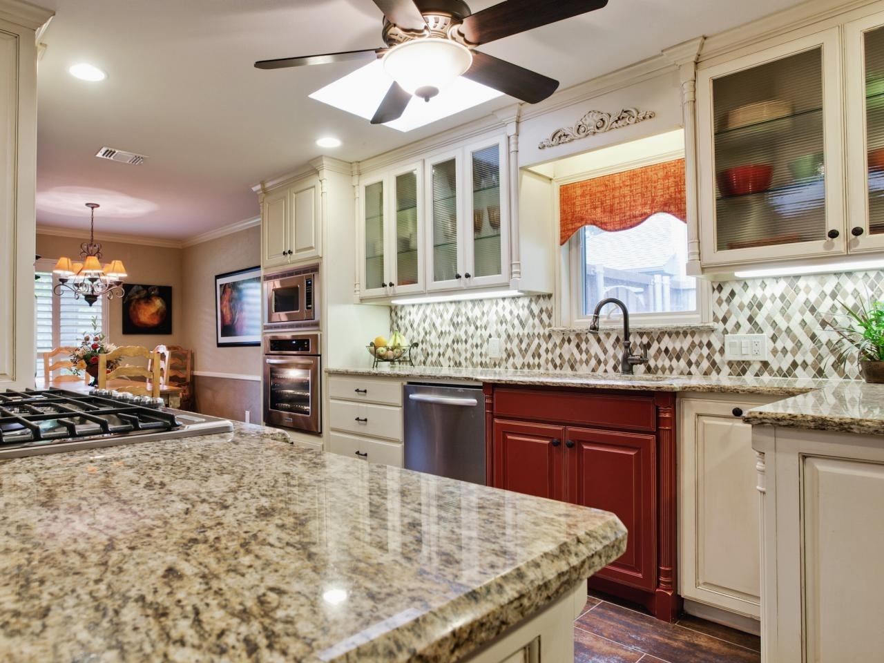 backsplash ideas for granite countertops + hgtv pictures | hgtv