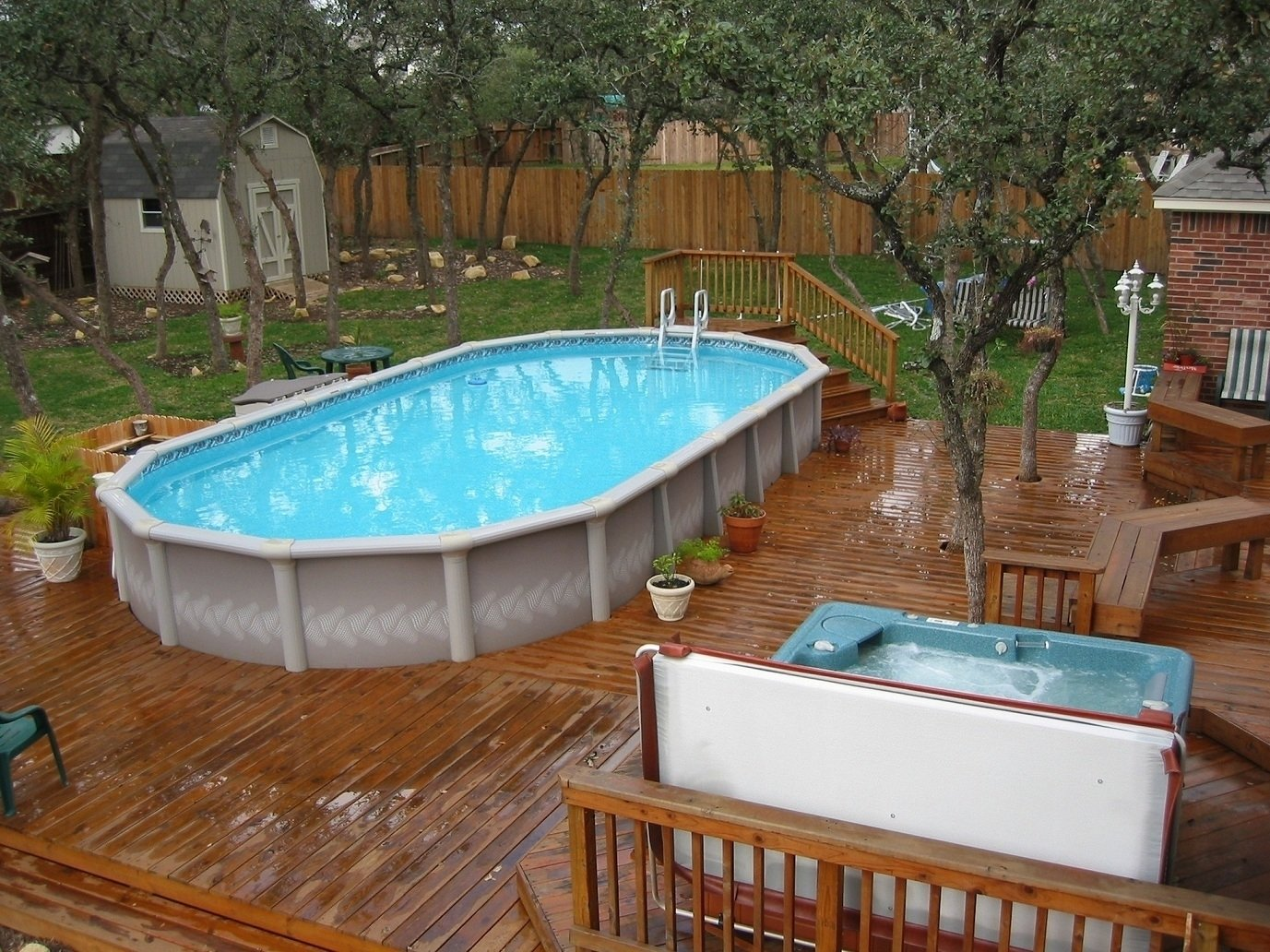 10 Most Popular Above Ground Pool Ideas Backyard backyard above ground pool ideas with in awesome dragonswatch 1