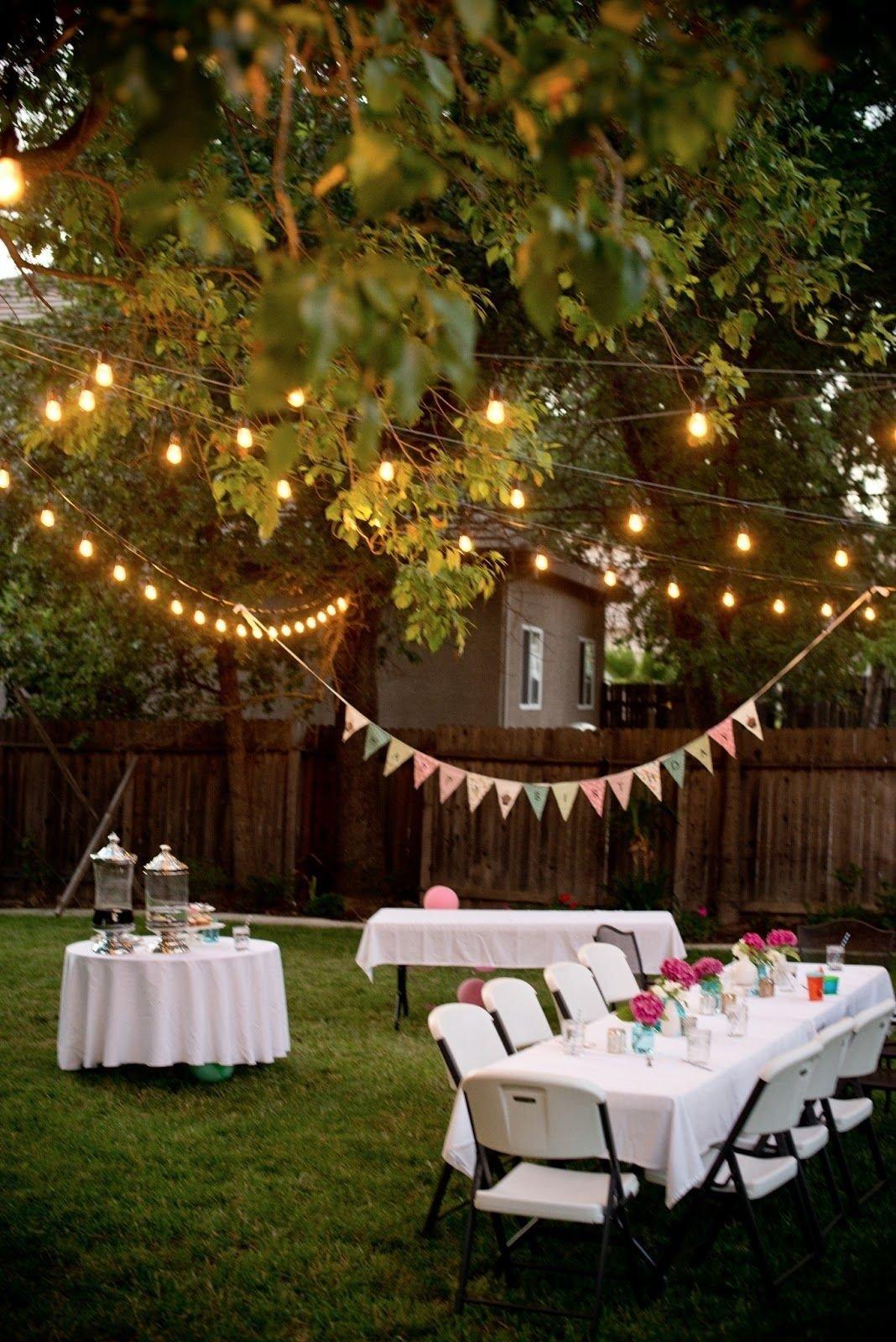 10 Stylish Backyard Birthday Party Ideas For Adults backyard birthday fun pink hydrangeas polka dot napkins