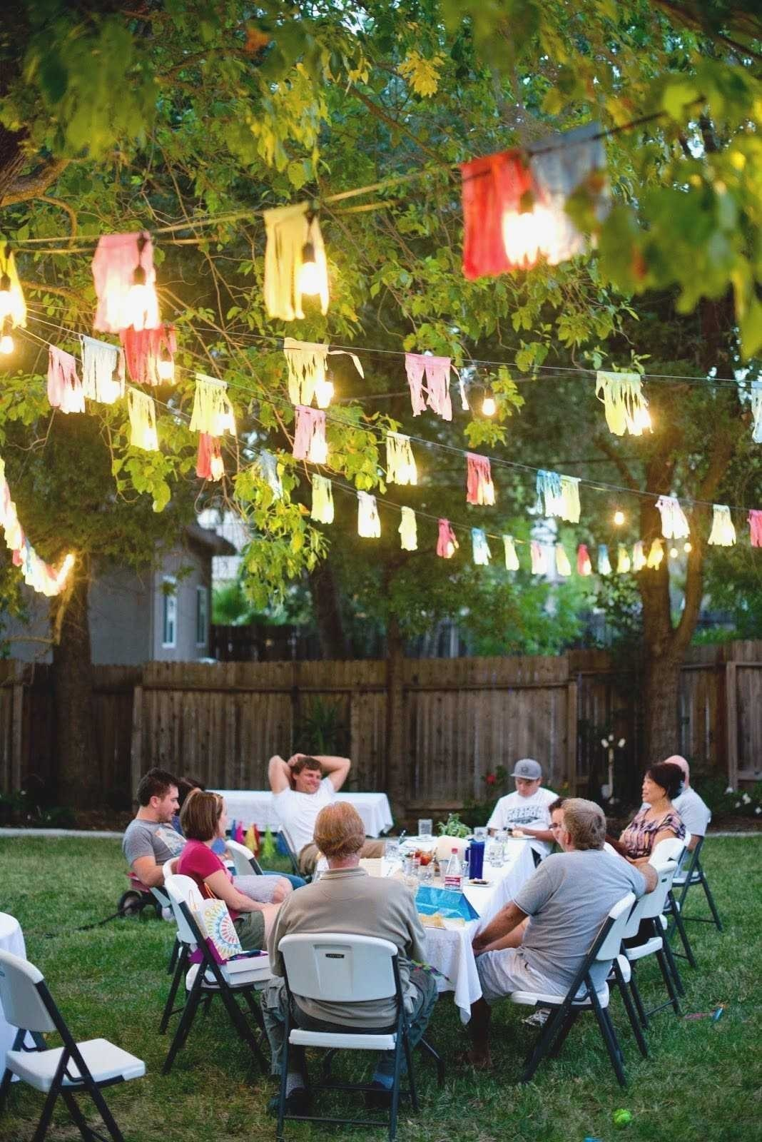 backyard birthday party ideas adults elegant some creative outdoor