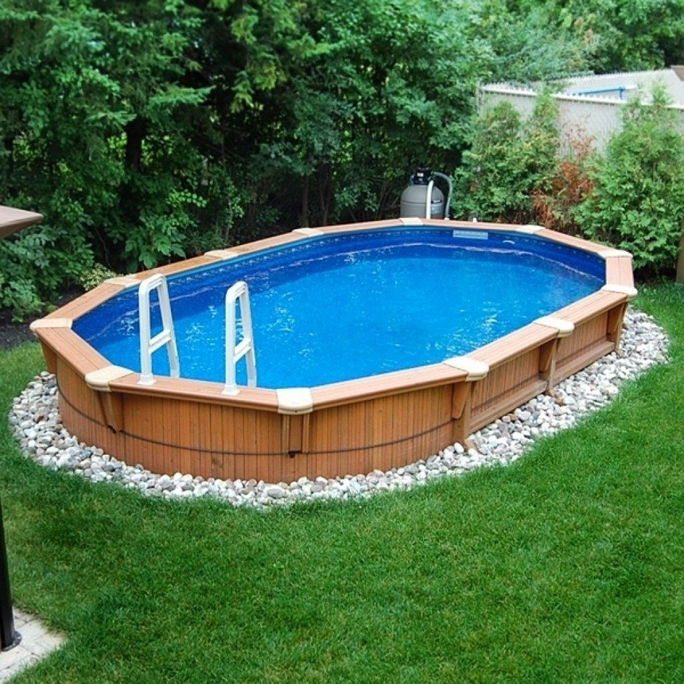 backyard design ideas with above ground pool - amys office