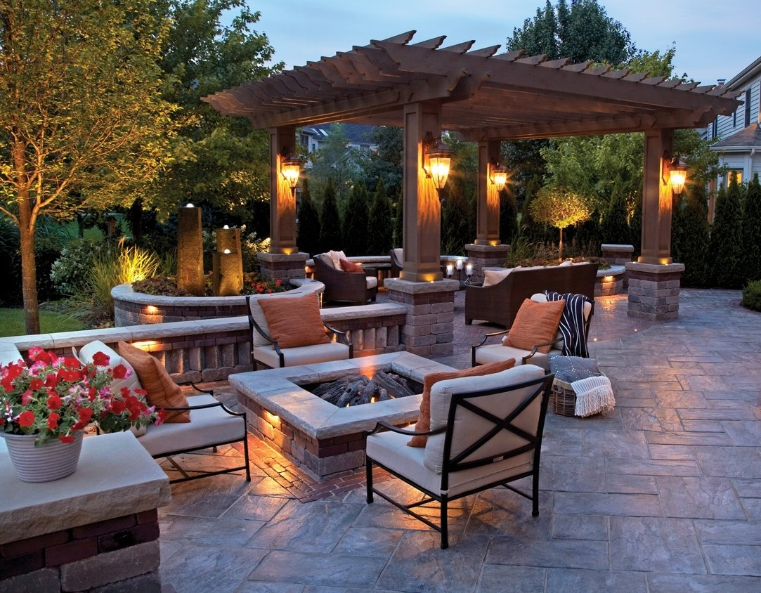 10 Lovely Patio Ideas With Fire Pit backyard fire pits that heat up your landscape