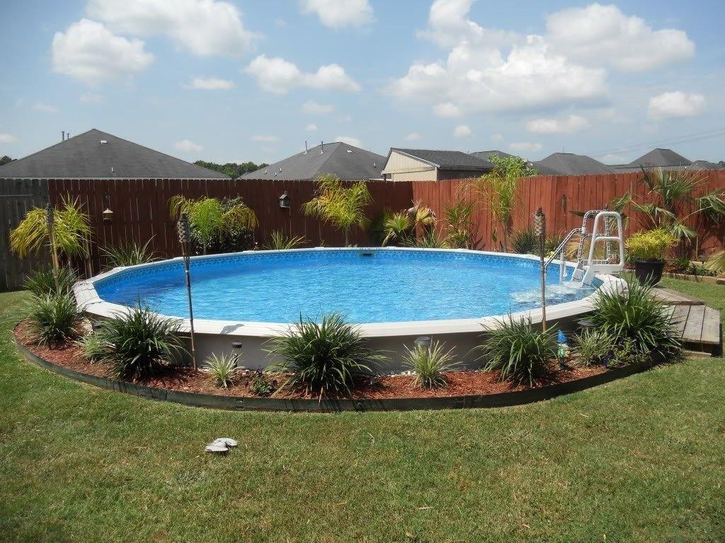 10 Stylish Above Ground Pool Landscape Ideas backyard landscaping ideas with above ground pool small backyard 2020
