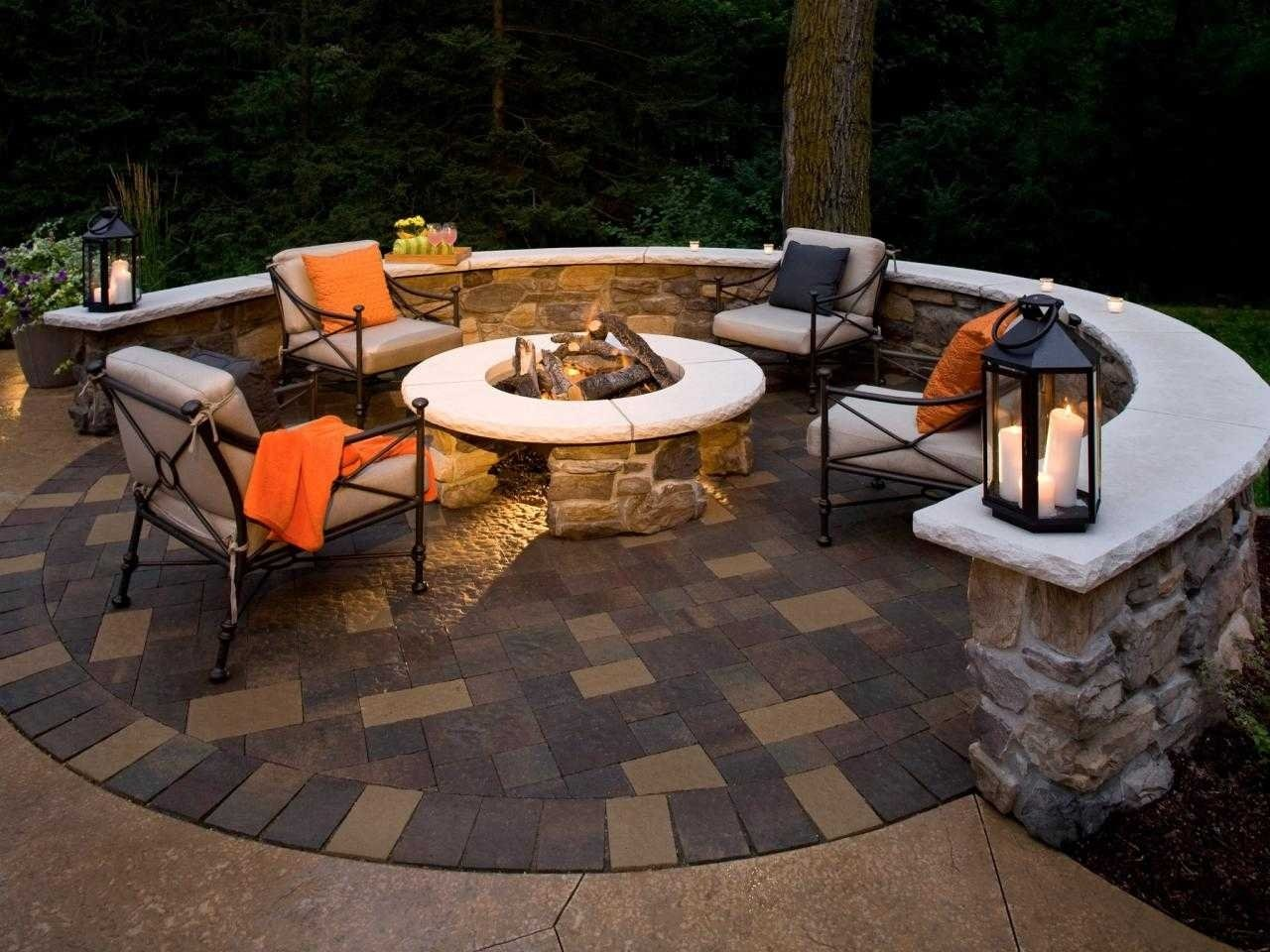 10 Perfect Patio Design Ideas With Fire Pits backyard patio designs with fire pit ideas including beautiful small 2021