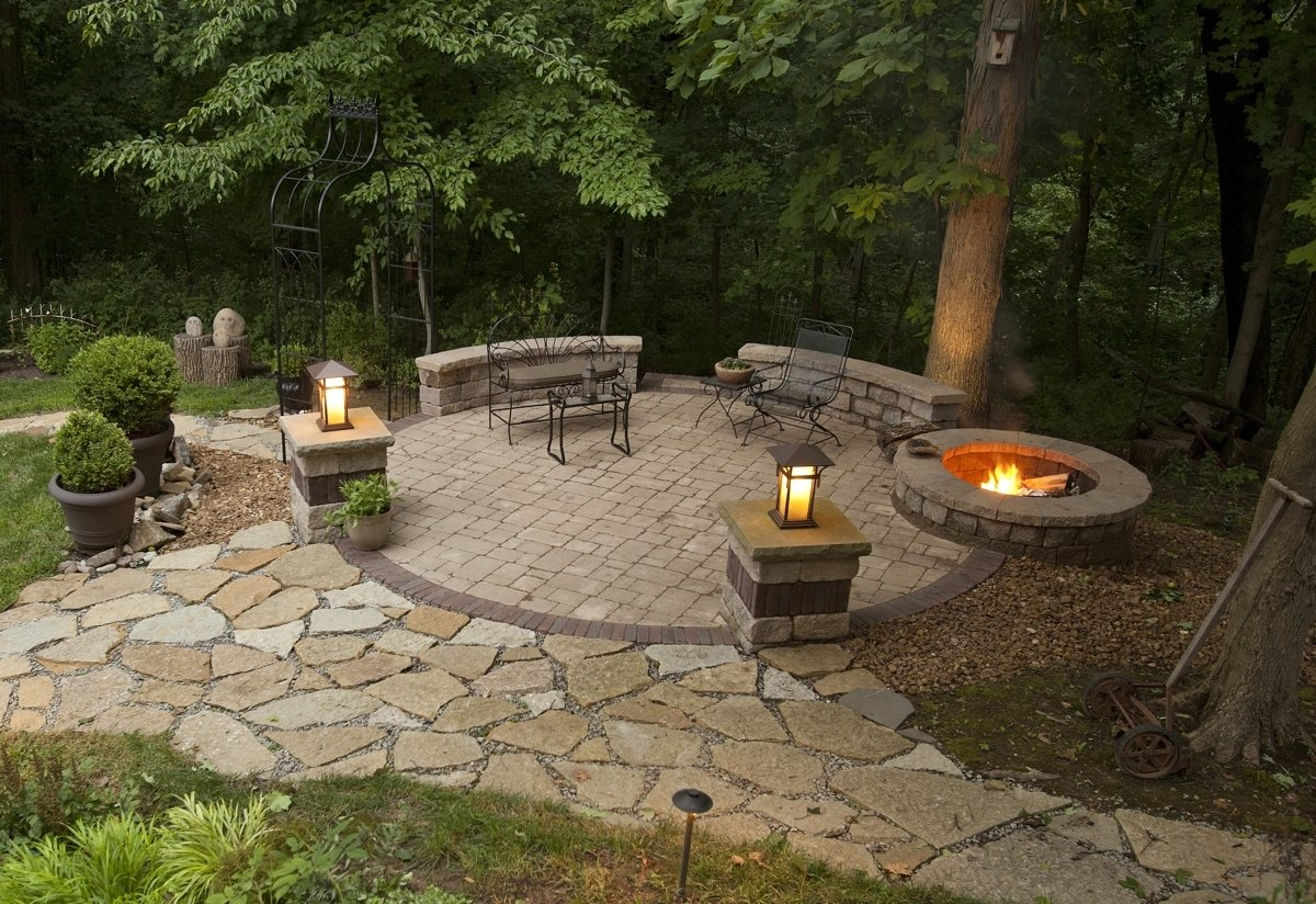 10 Fantastic Outdoor Patio Ideas With Fire Pit backyard patio ideas with fire pit moon garden plus outdoor images 2020