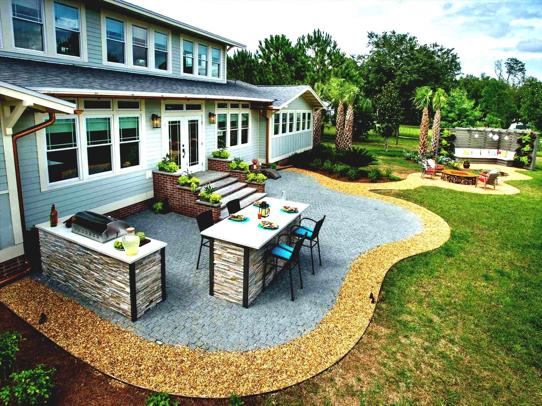 backyard small diy patio ideas design and concrete on a budget