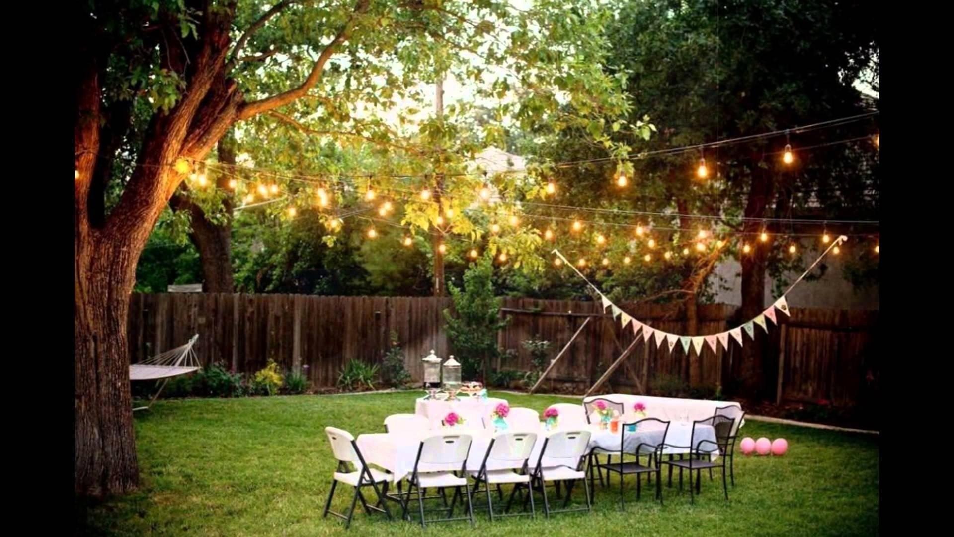 10 Stylish Outside Wedding Ideas For Summer backyard weddings on a budget youtube 4