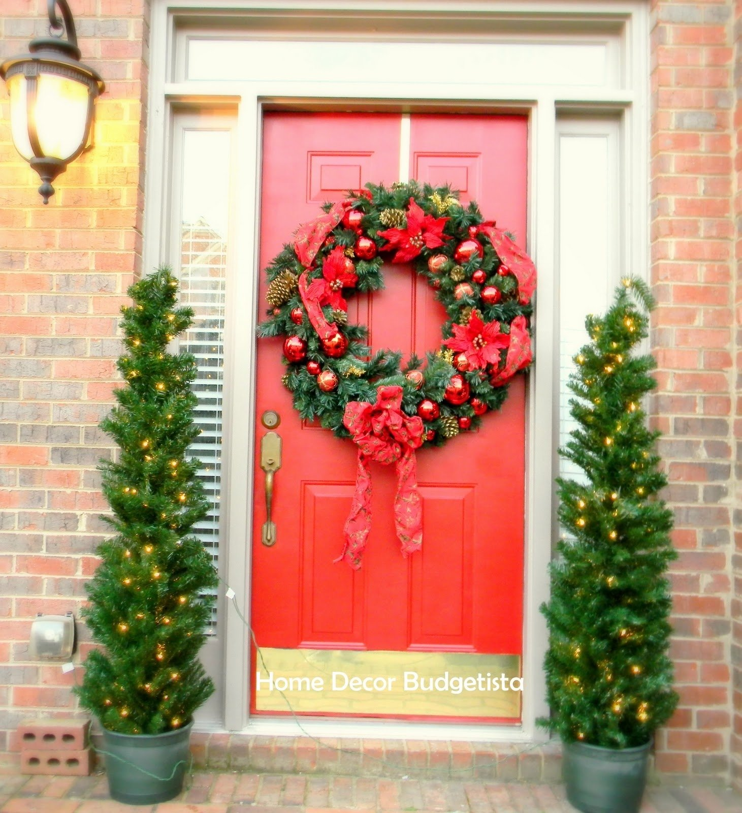 10 Awesome Front Door Christmas Decorating Ideas backyards best christmas door decorations for jumbo wreath front 2020