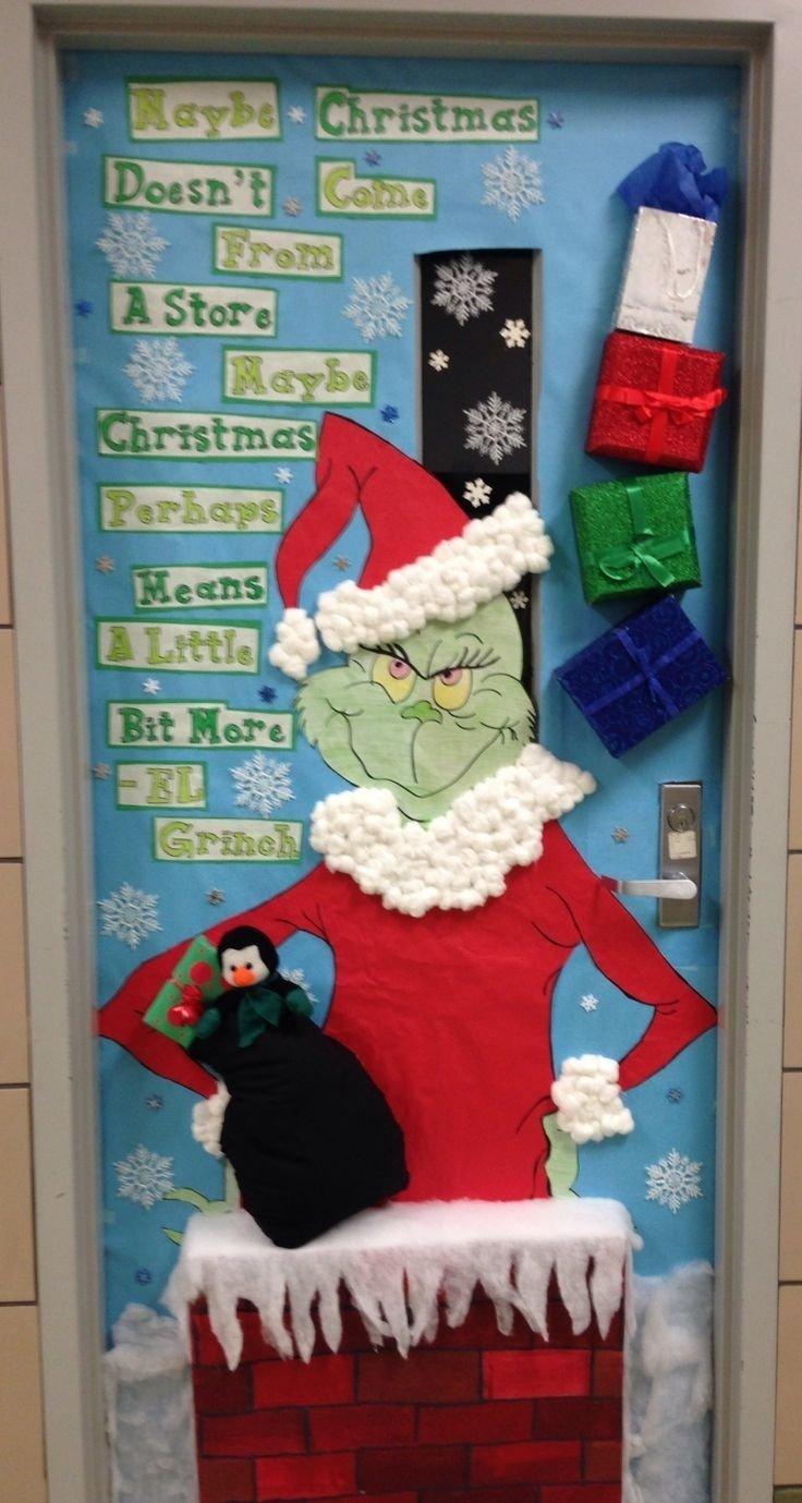 10 Wonderful Christmas Door Ideas For School bafb2556b3b8aa6076ef007ea4172f8b 736x1379 classroom 2020