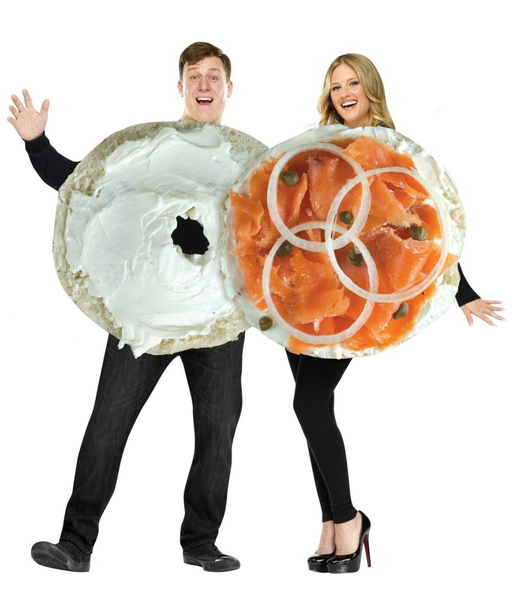 10 Stylish Good Costume Ideas For Couples bagel and lox couples costume lizbacorn hey liz i think this would 2020