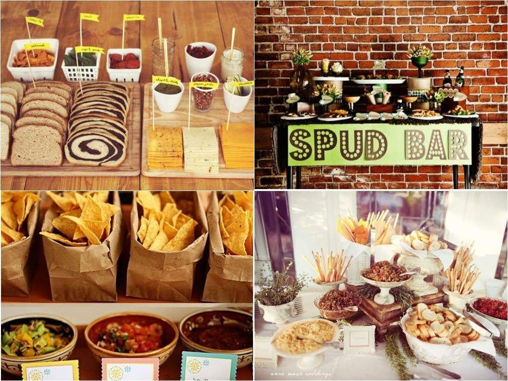 baked potato bar wedding savoury wedding food station | fred & dc's