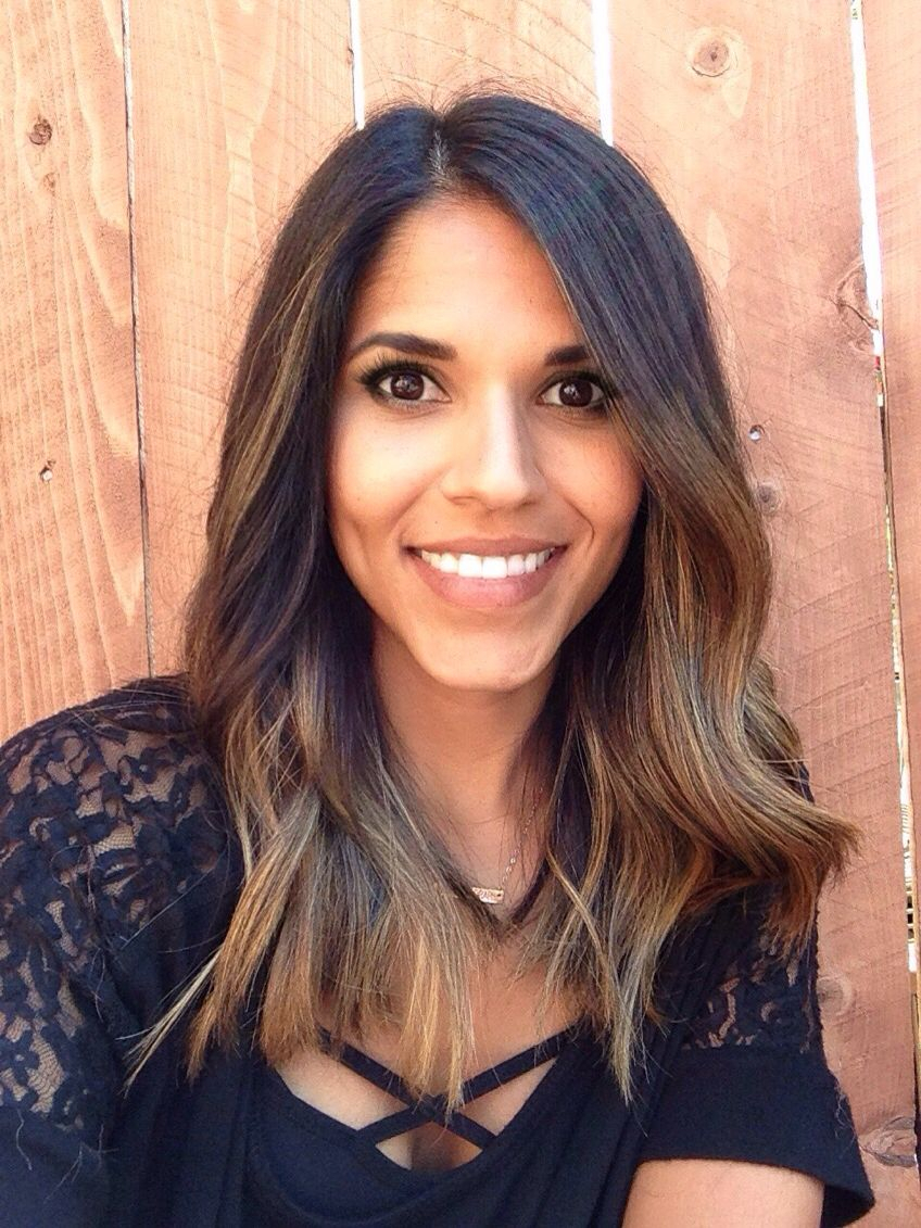balayage/ ombre for dark hair and brown skin tone. | hair ideas in