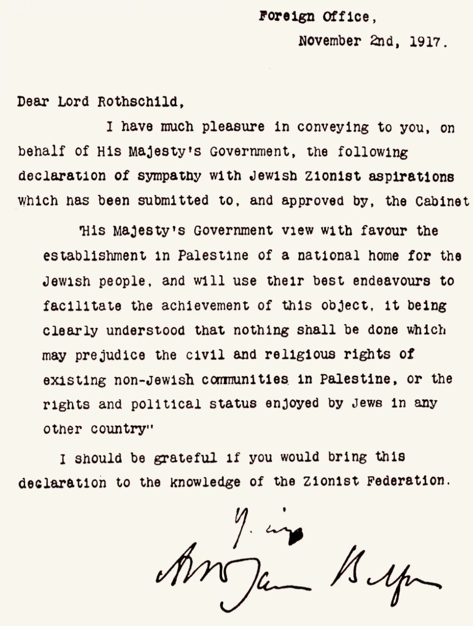 10 Fantastic The Balfour Declaration Of 1917 Supported The Idea Of A balfour declaration wikipedia 2020