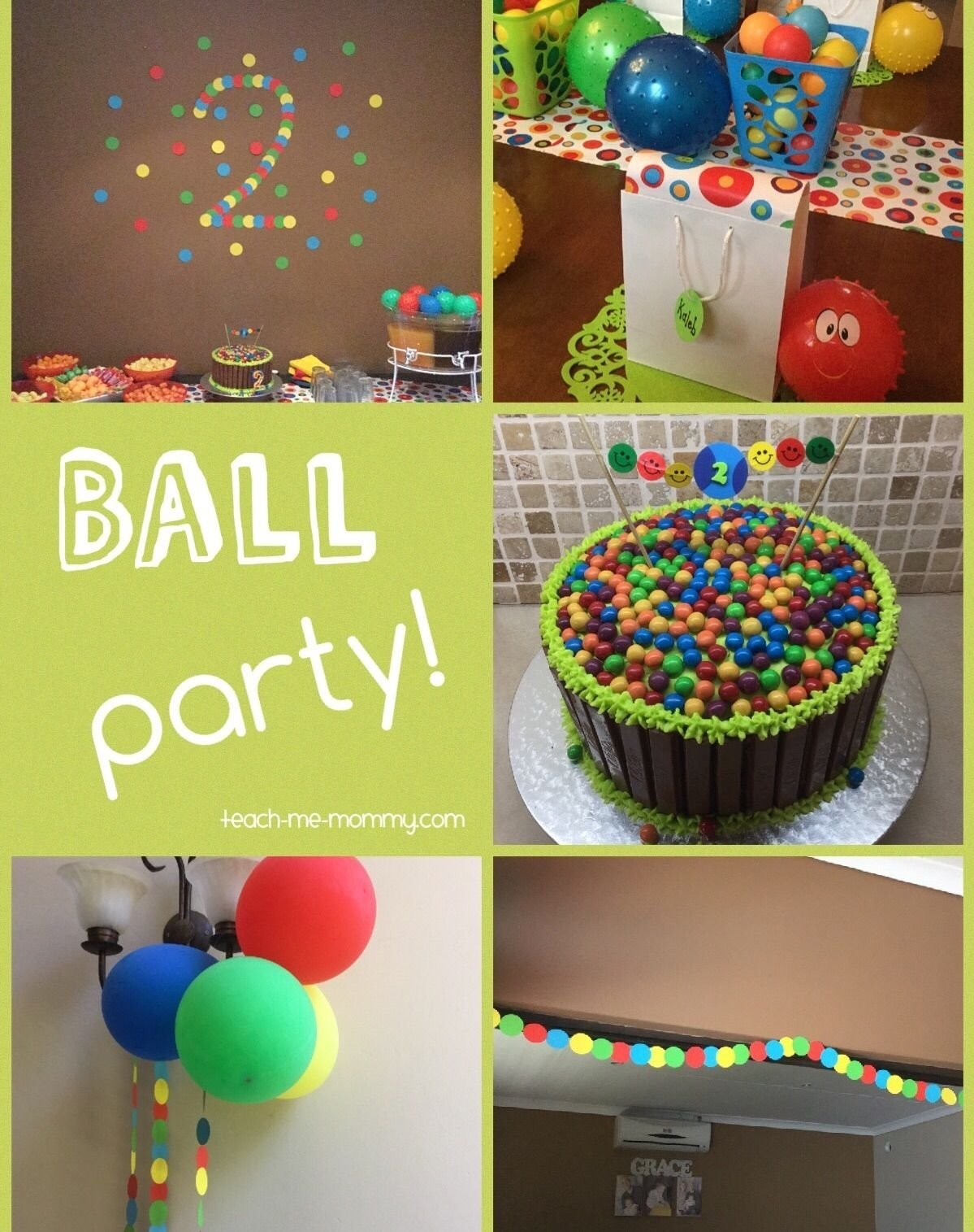 10 Amazing 3Rd Birthday Party Ideas For Boys Ball Themed A 2 Year Old