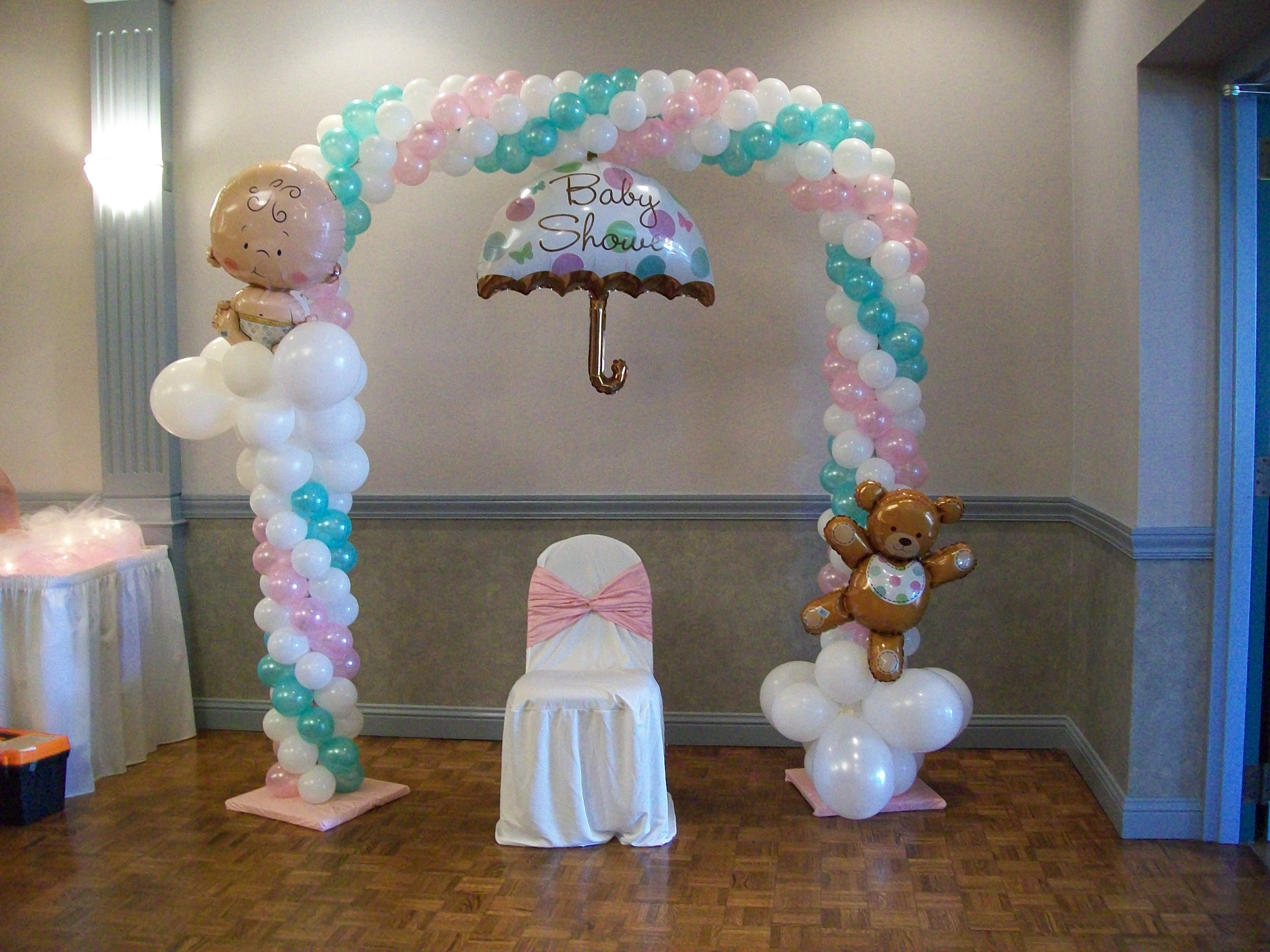 10 Awesome Baby Shower Balloon Decorations Ideas balloon arch for a baby shower heavenly creations events 2020