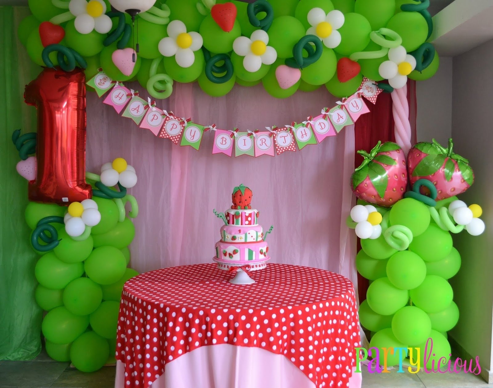 10 Attractive Strawberry Shortcake Birthday Party Ideas balloon idea minus the 1 vintage strawberry shortcake birthday 2021