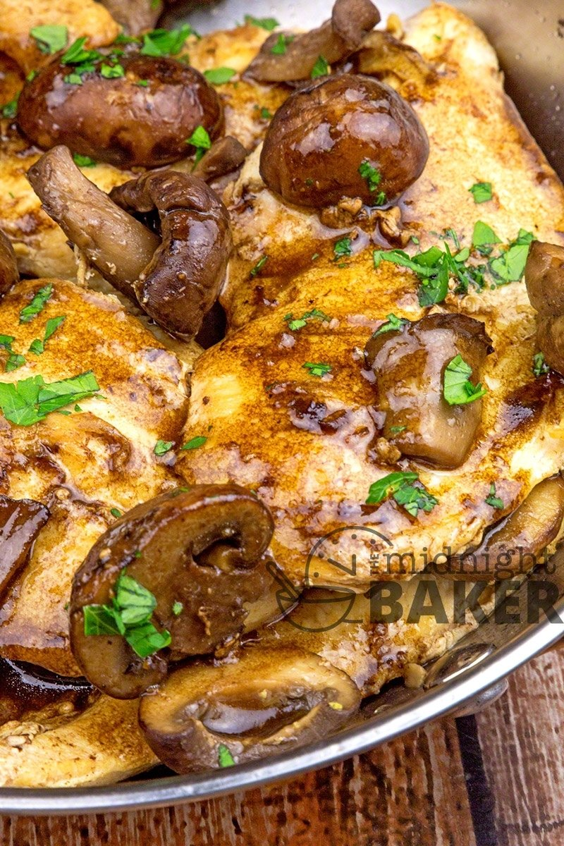 10 Attractive Easy Dinner Ideas With Chicken balsamic chicken with mushrooms the midnight baker 4