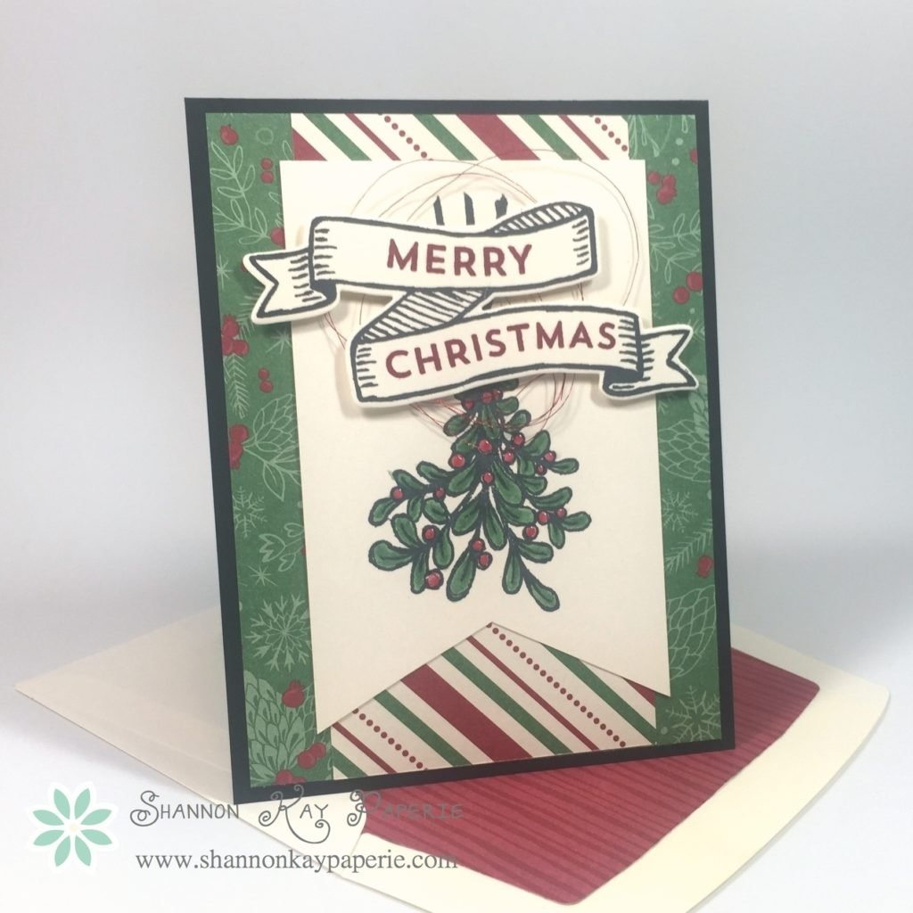 10 Beautiful Stampin Up Christmas Card Ideas banners for christmas 30 day card challenge day 3 shannon kay 2021