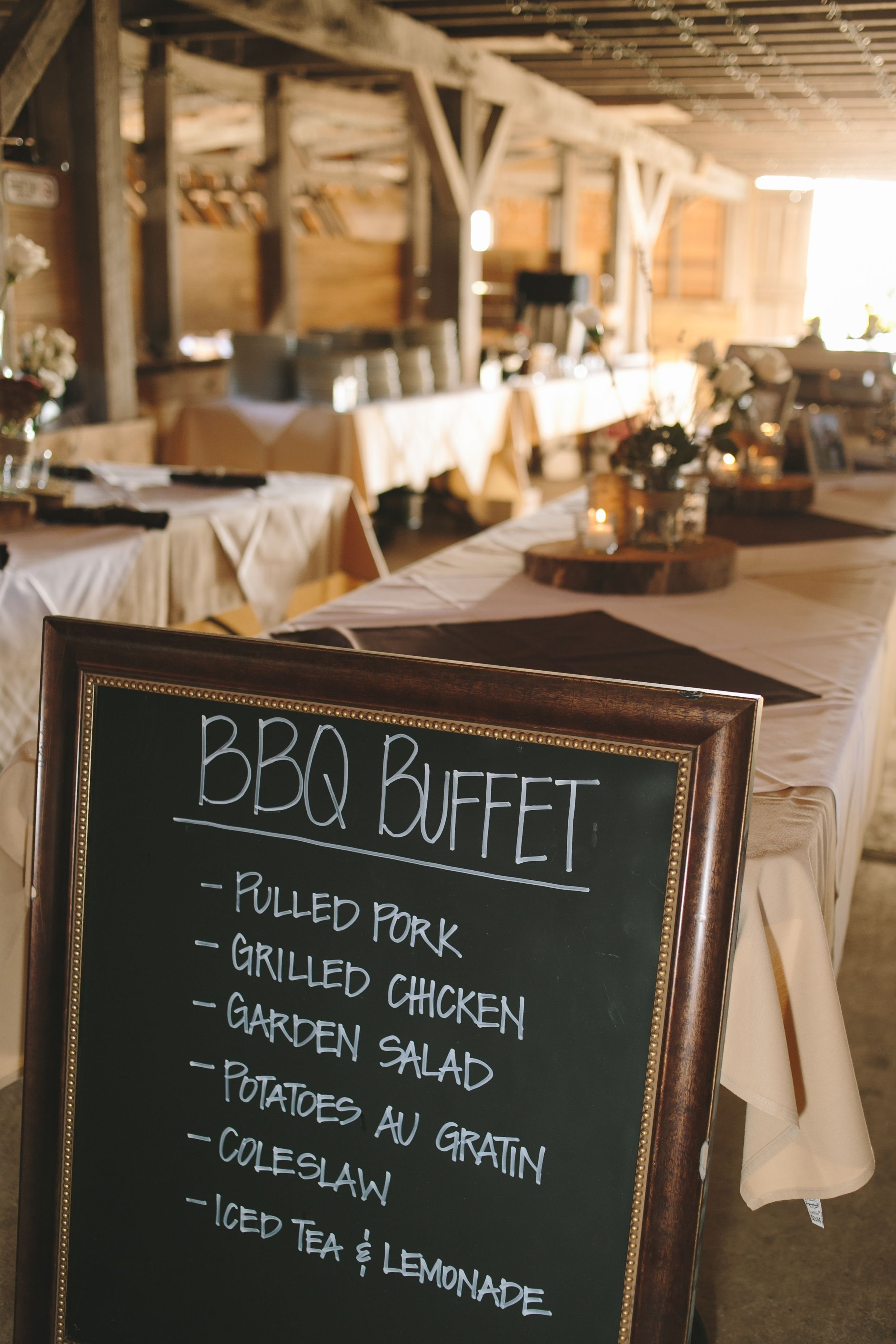 10 Lovely Wedding Rehearsal Dinner Ideas On A Budget barbecue buffet reception dinner with chalkboard menu pinteres 1 2020