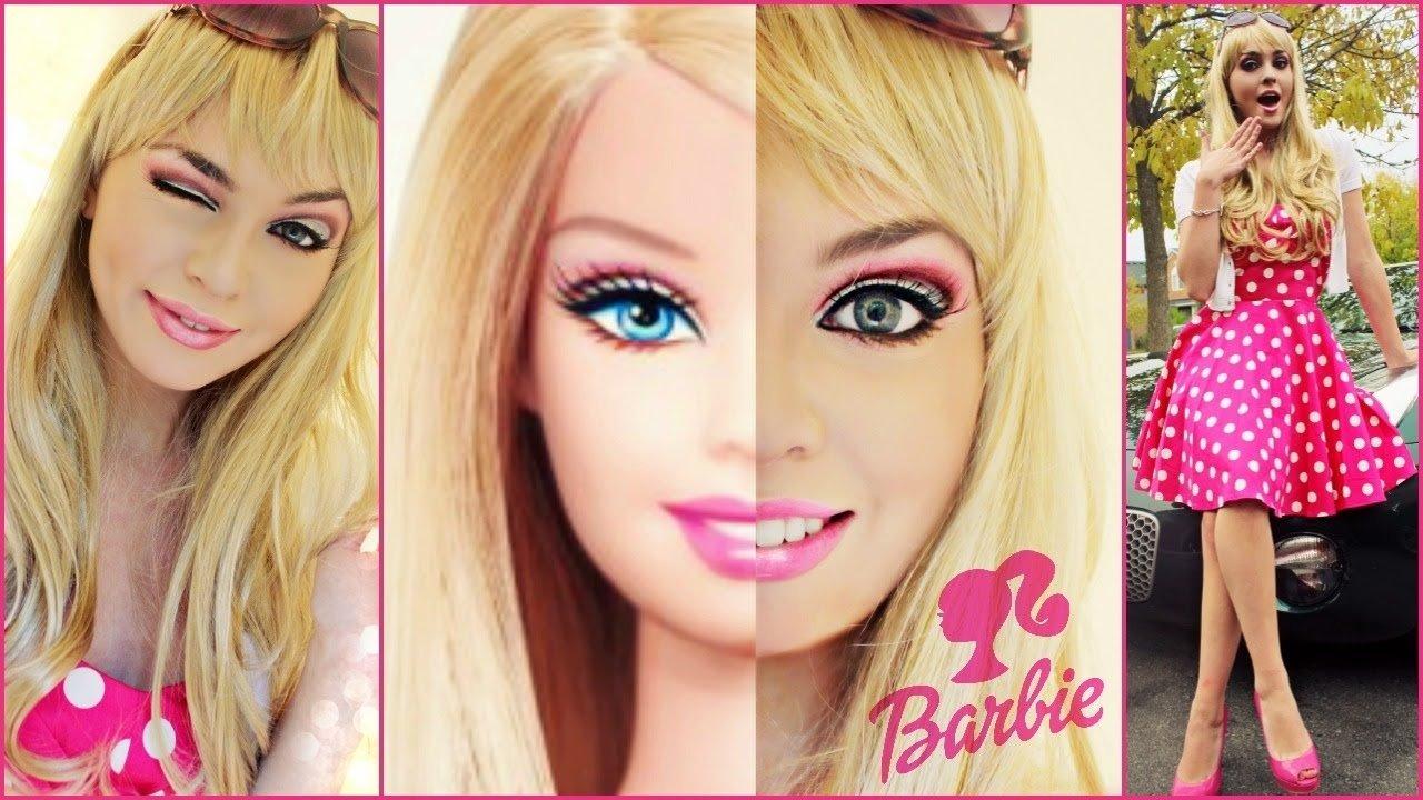 10 Great Halloween Costume Ideas For Blondes barbie makeup tutorial costume idea halloween 2014 jackie wyers 2020