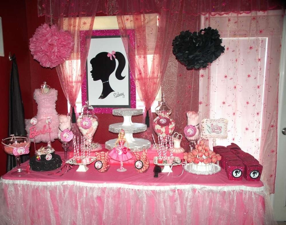 10 Best Birthday Party Ideas For 6 Year Old Girl barbie pink shoes birthday party ideas photo 6 of 49 catch my party 1 2020