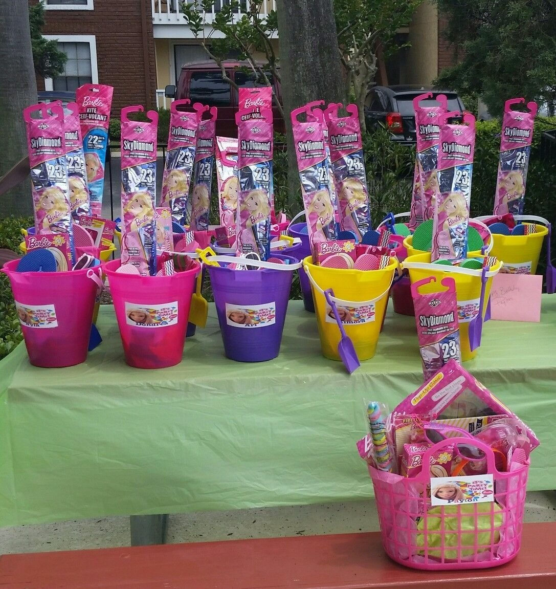 10 Pretty Ideas For Birthday Party Favors barbie pool party favors idea barbie pool party pinterest pool 1 2021