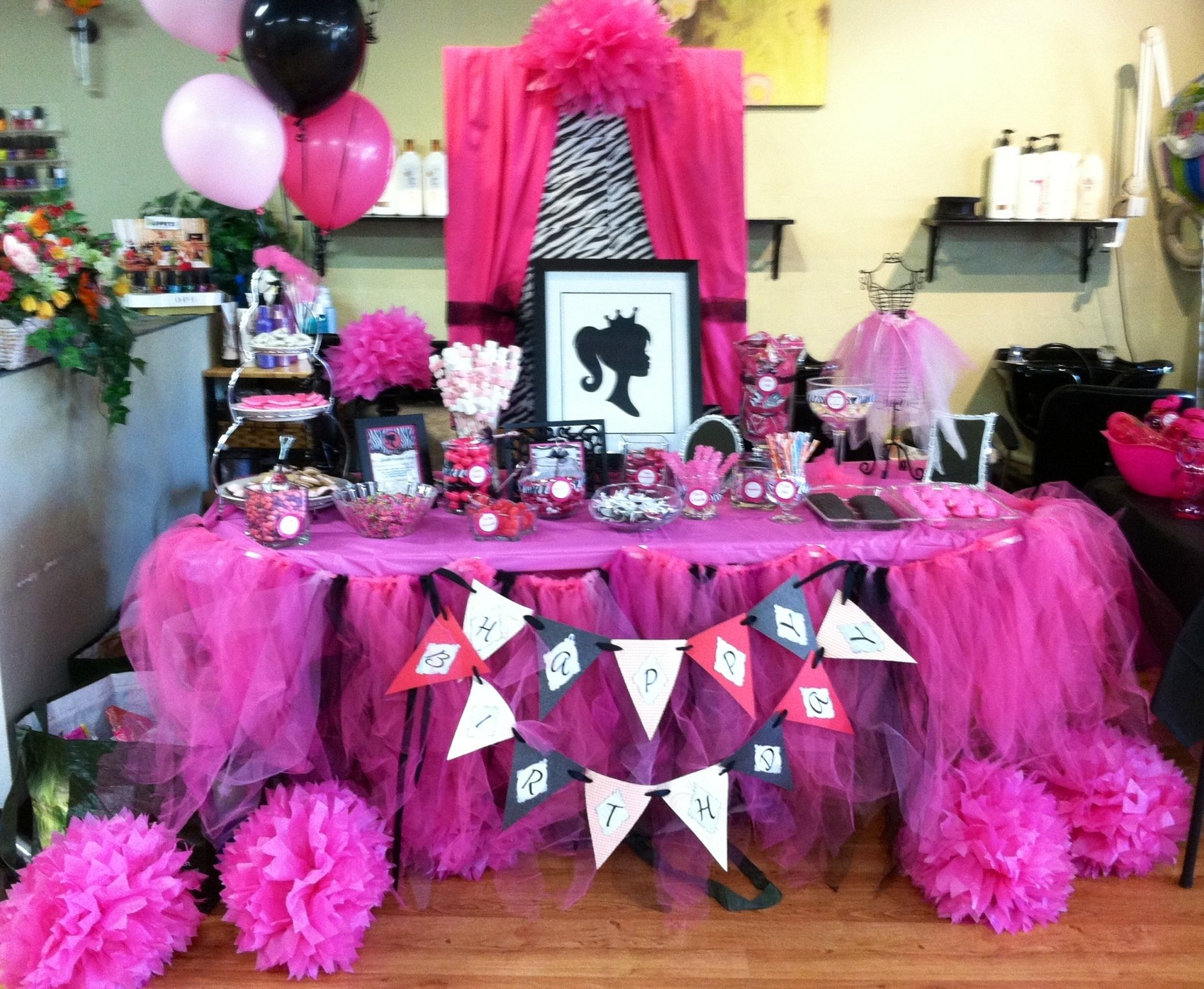 10 Unique Fashion Show Birthday Party Ideas barbie vintage inspired a candy buffet table i made for my