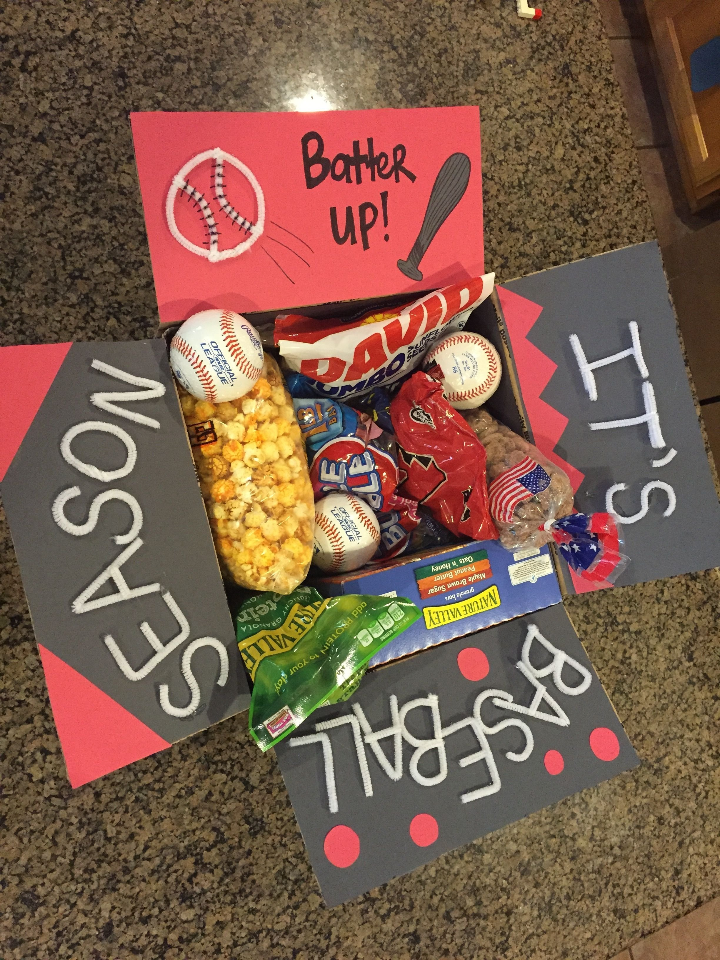 10 Gorgeous Cute Care Package Ideas For Boyfriend baseball care package pinteres 1 2020