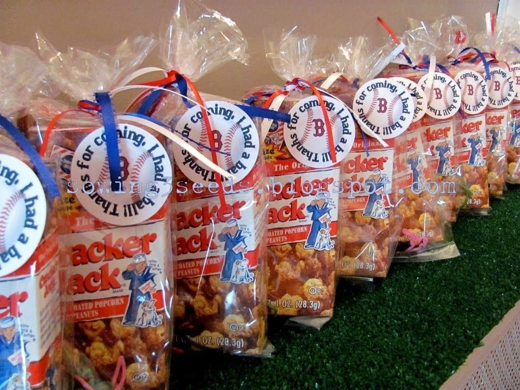 10 Lovable Gift Bag Ideas For Adults baseball engagement party ideas included cracker jacks 2020