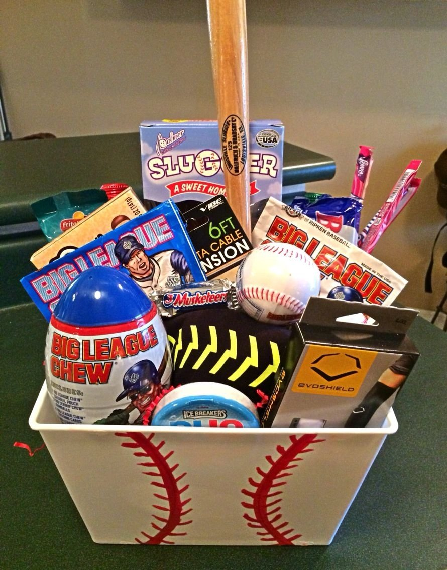10 Stunning Gift Ideas For Baseball Players baseball themed gift basket baseball pinterest themed gift 2020
